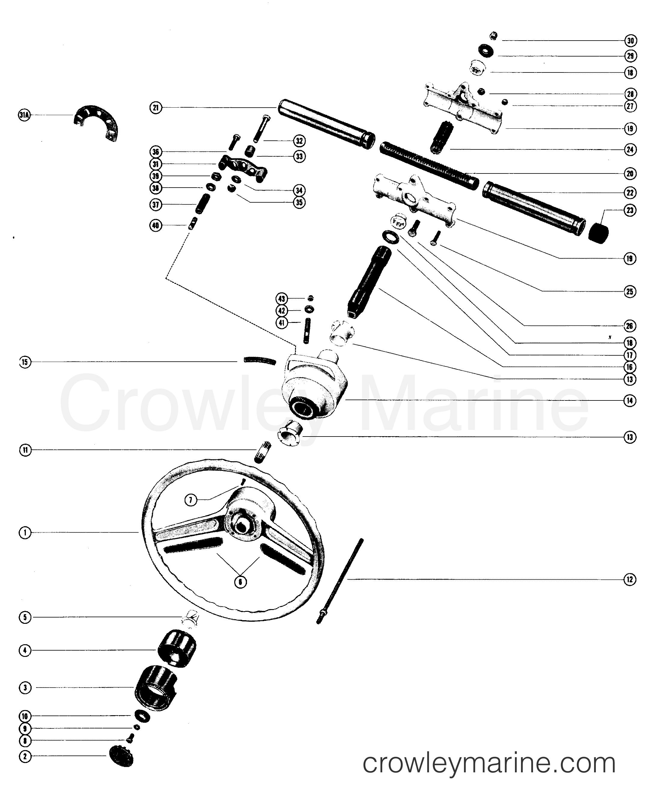 marine power steering diagram