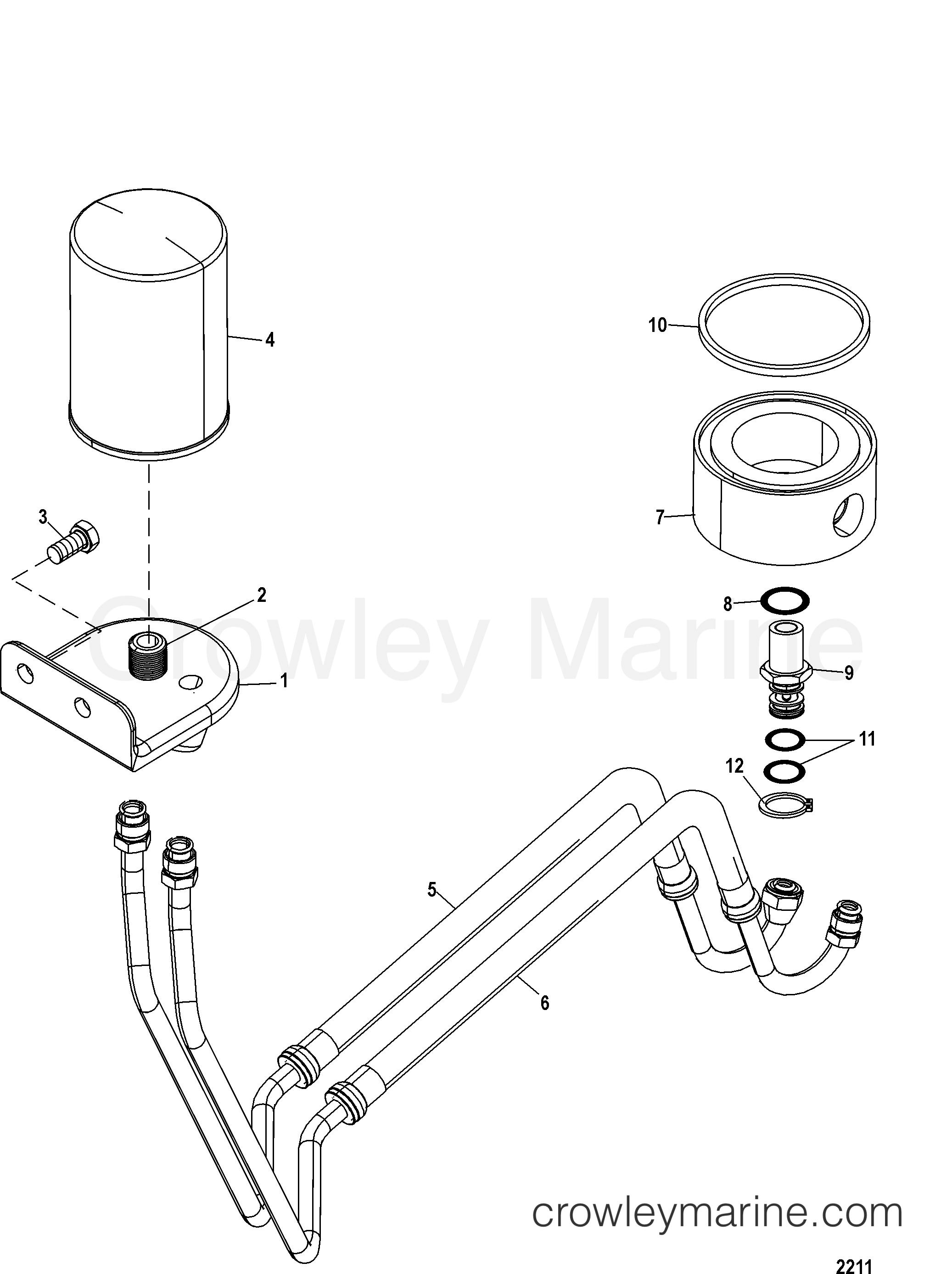 mercury marine remote oil filter kit