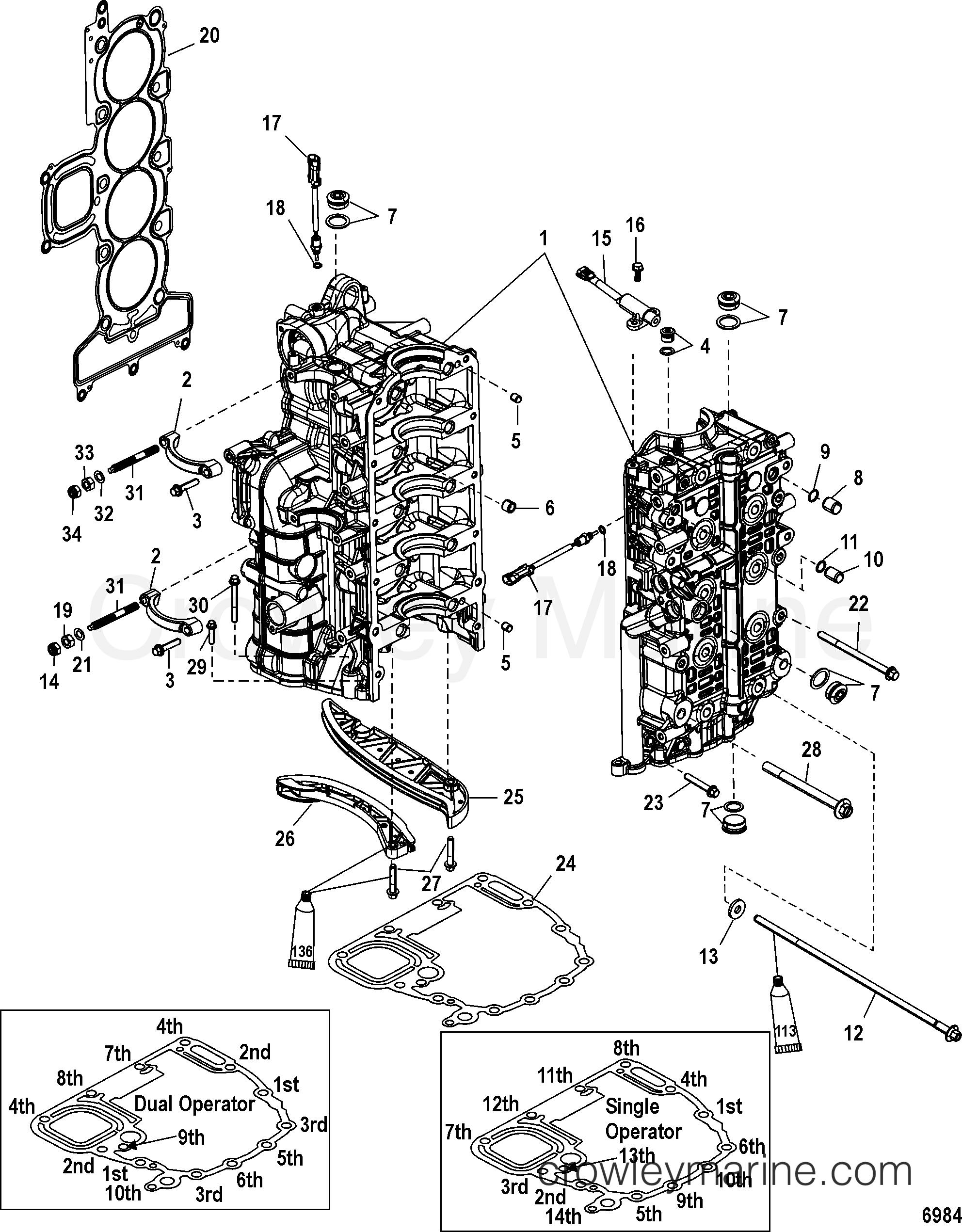 Serial Range Mercury Outboard 200 VERADO (4-STROKE)(4 CYL.)