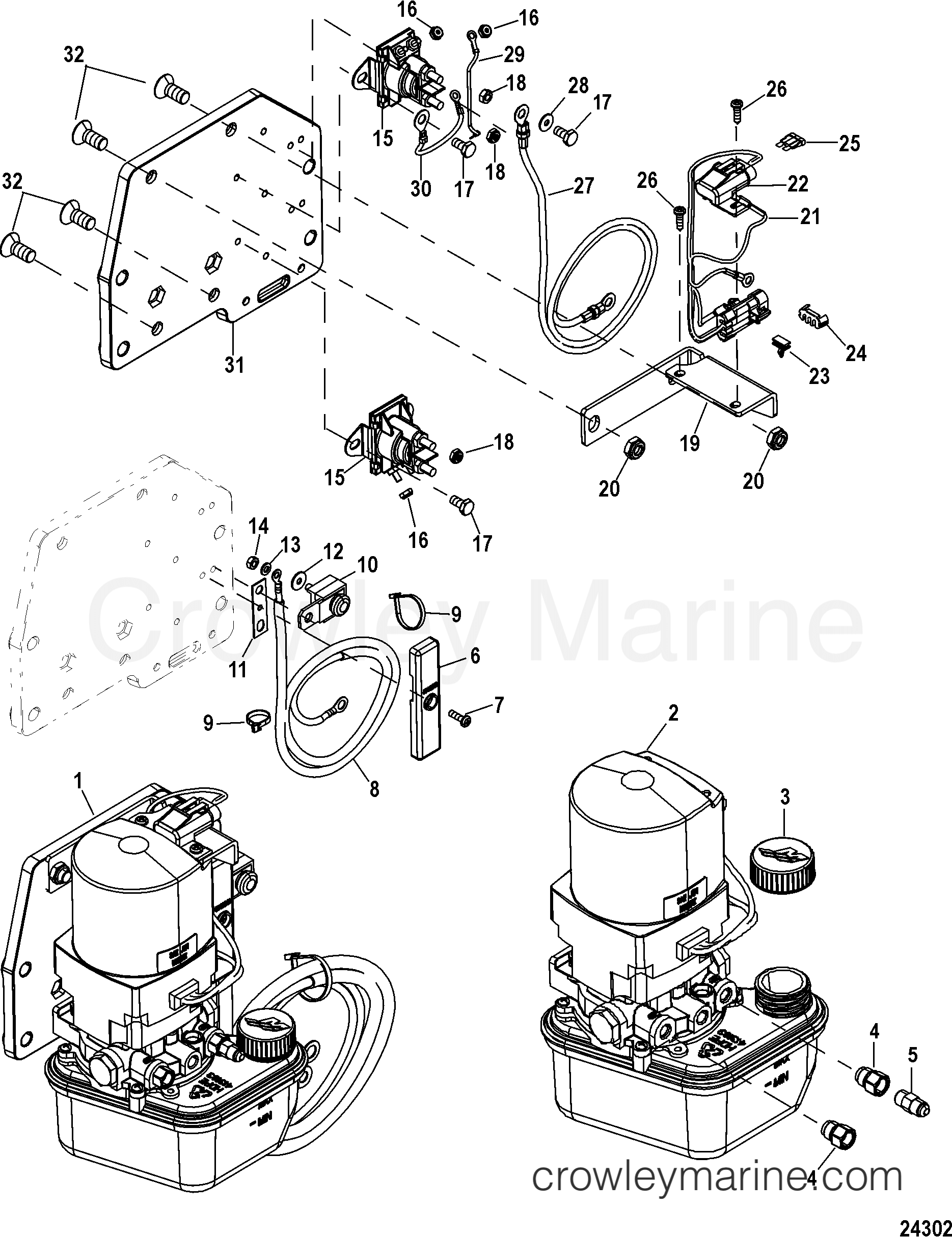 Trim Pump Assembly843017t03 1991 Mercruiser Race Sterndrive Ssm6 Outdrive Wiring Diagrams 10001 5604100dh Assembly