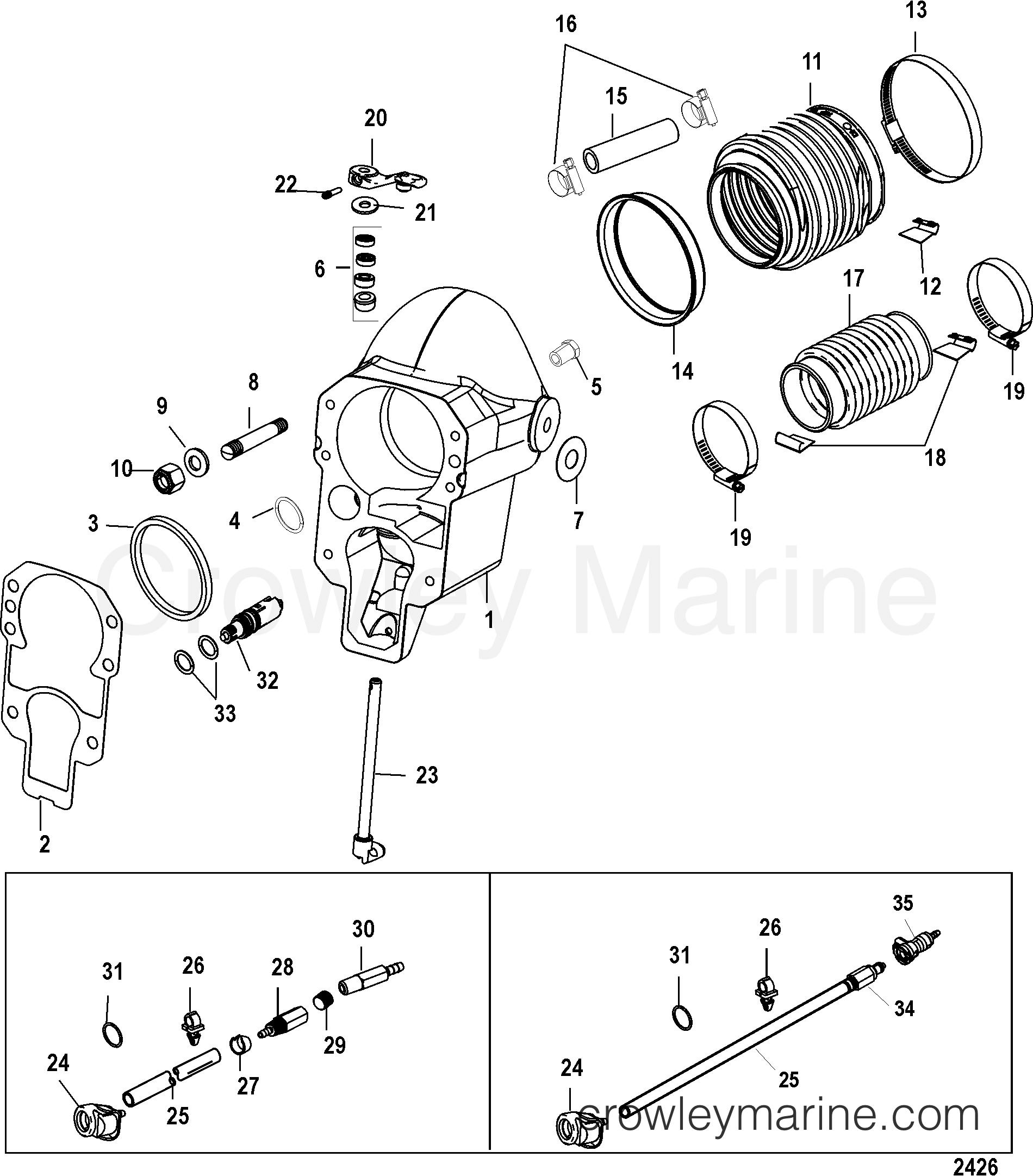 BELL HOUSING - 1998 Mercruiser ALPHA [1 47:1] 5111200LP | Crowley Marine