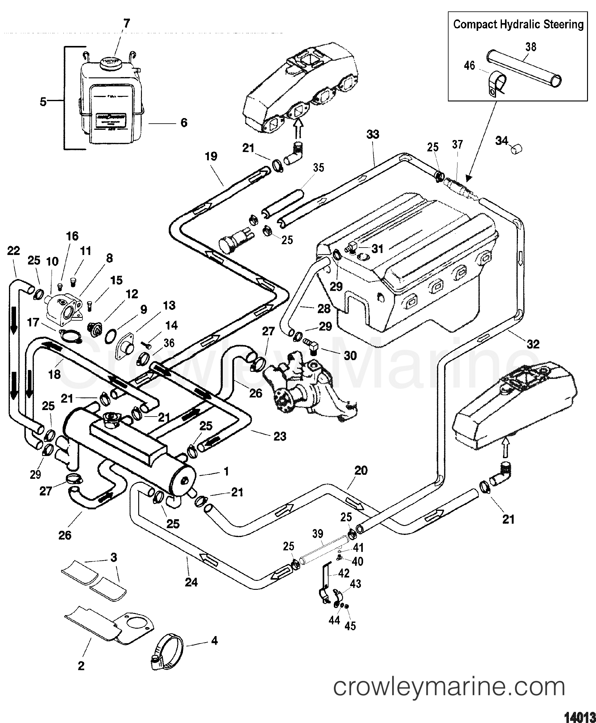 1998 Mercruiser 5 0 Engine Diagram Free Wiring For You Closed Cooling System 7l Alpha Sterndrive Parts Starter