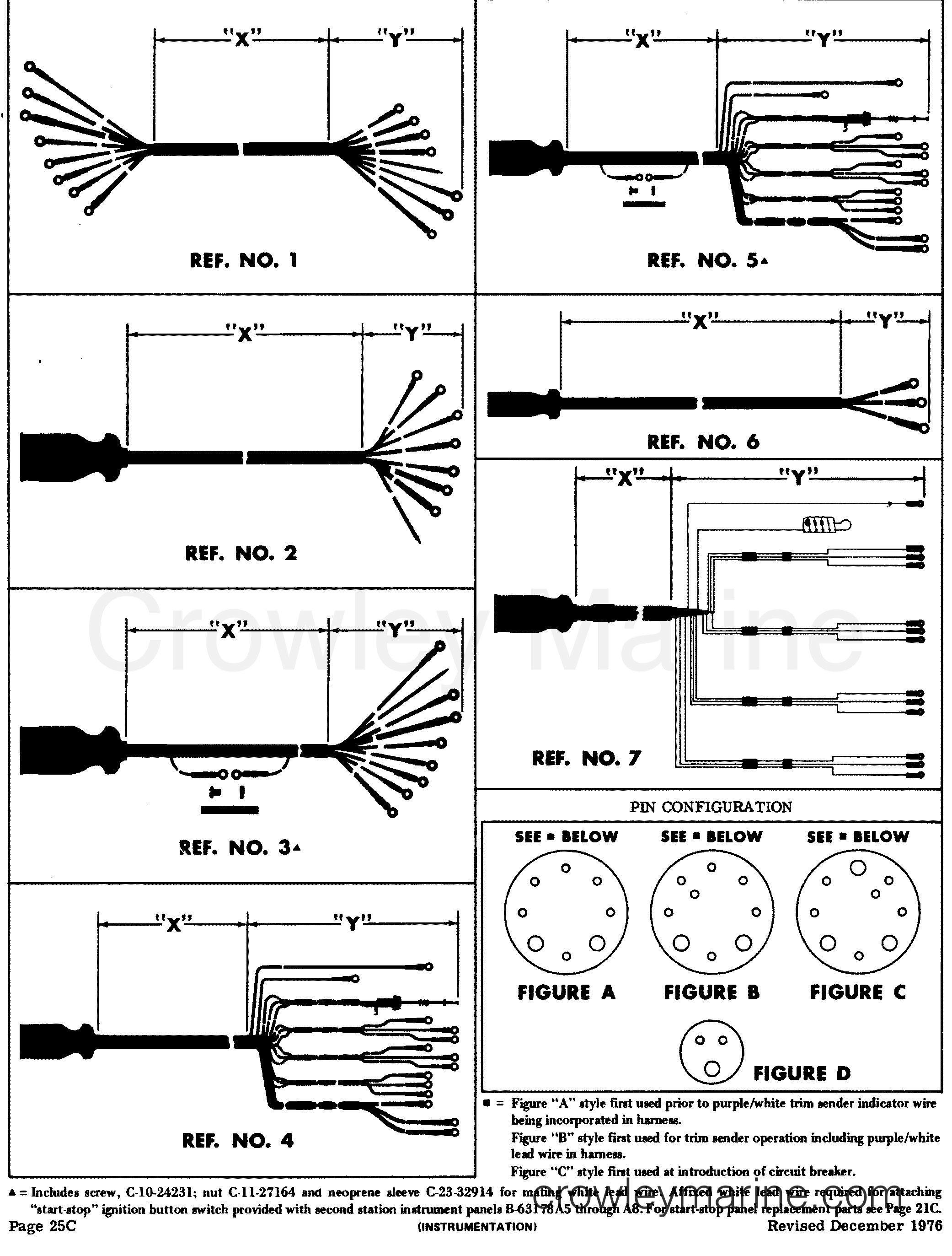 mercury 14 pin wiring harness diagram mercury instrument panel and gauge cluster harnesses various years on mercury 14 pin wiring harness diagram