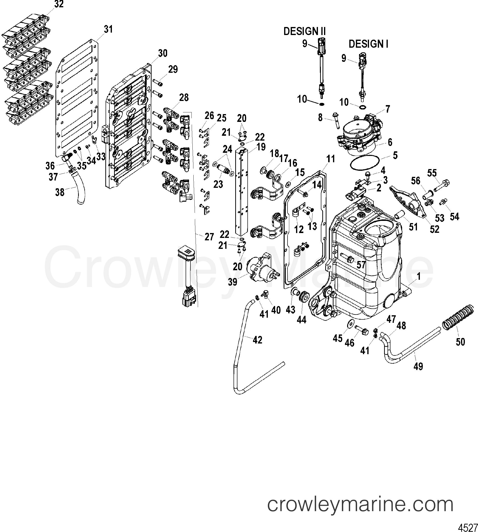 AIR HANDLER AND FUEL RAIL COMPONENTS - 2001 SportJet 0 [M2