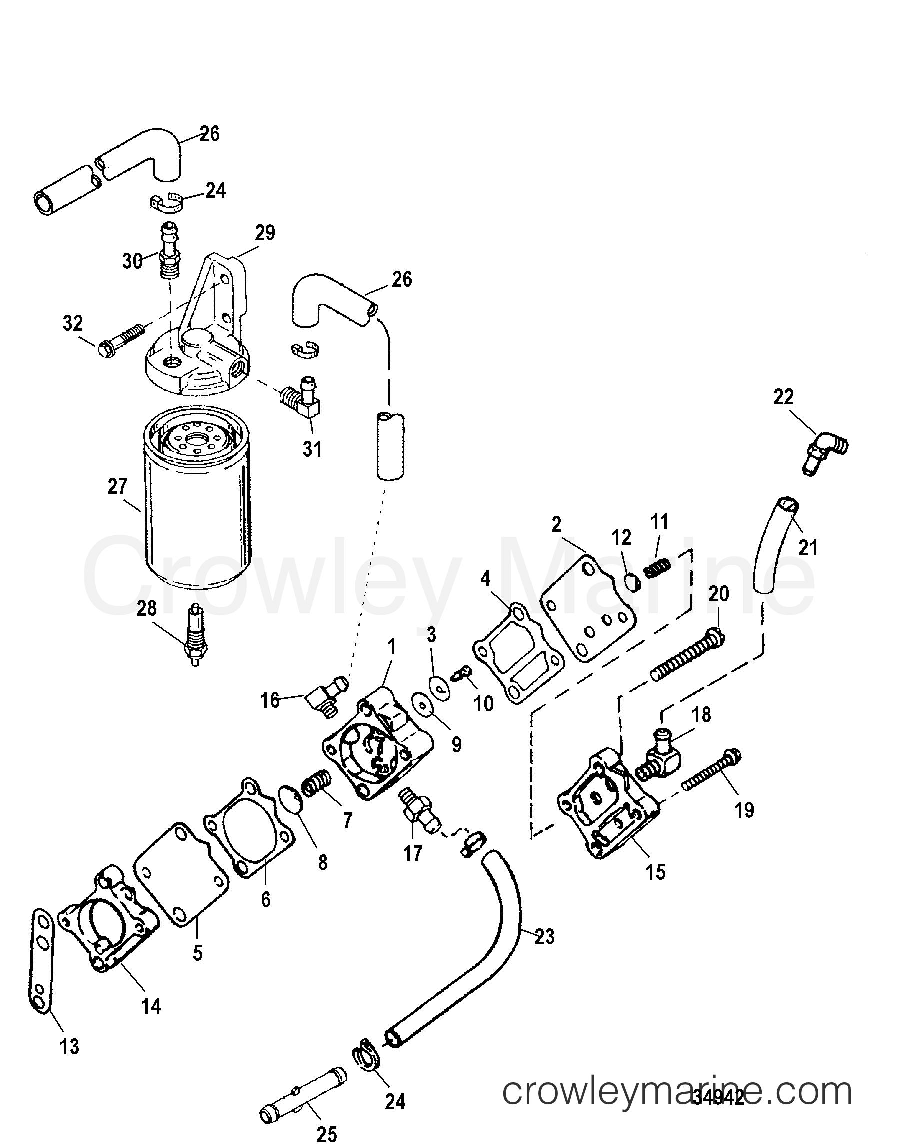 fuel pump and fuel filter