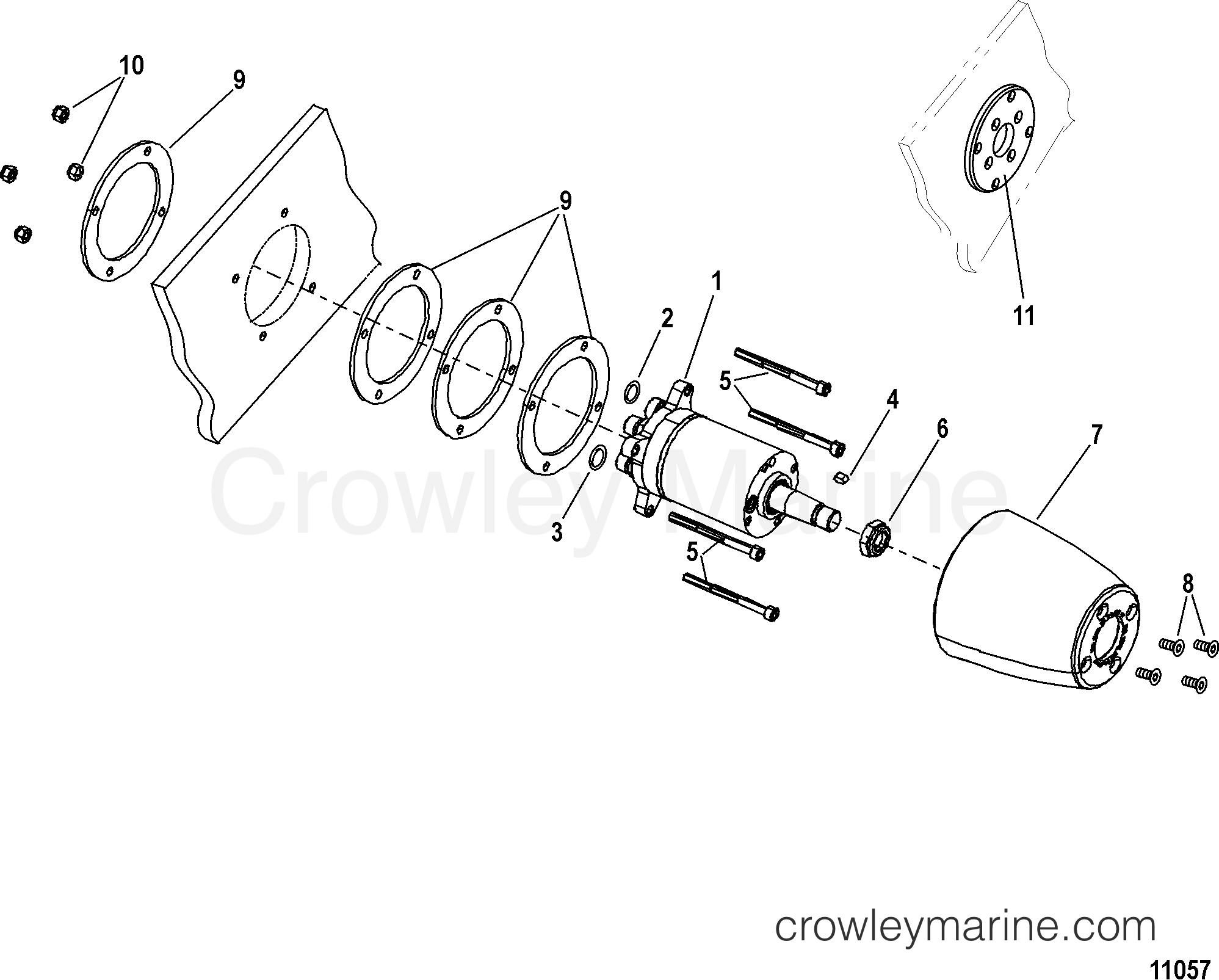 2014 Mercury Outboard 300 [CXL] - 1303V24KY - STEERING HELM KIT-STANDARD(892557A02, 892380A02, 892558A02) section