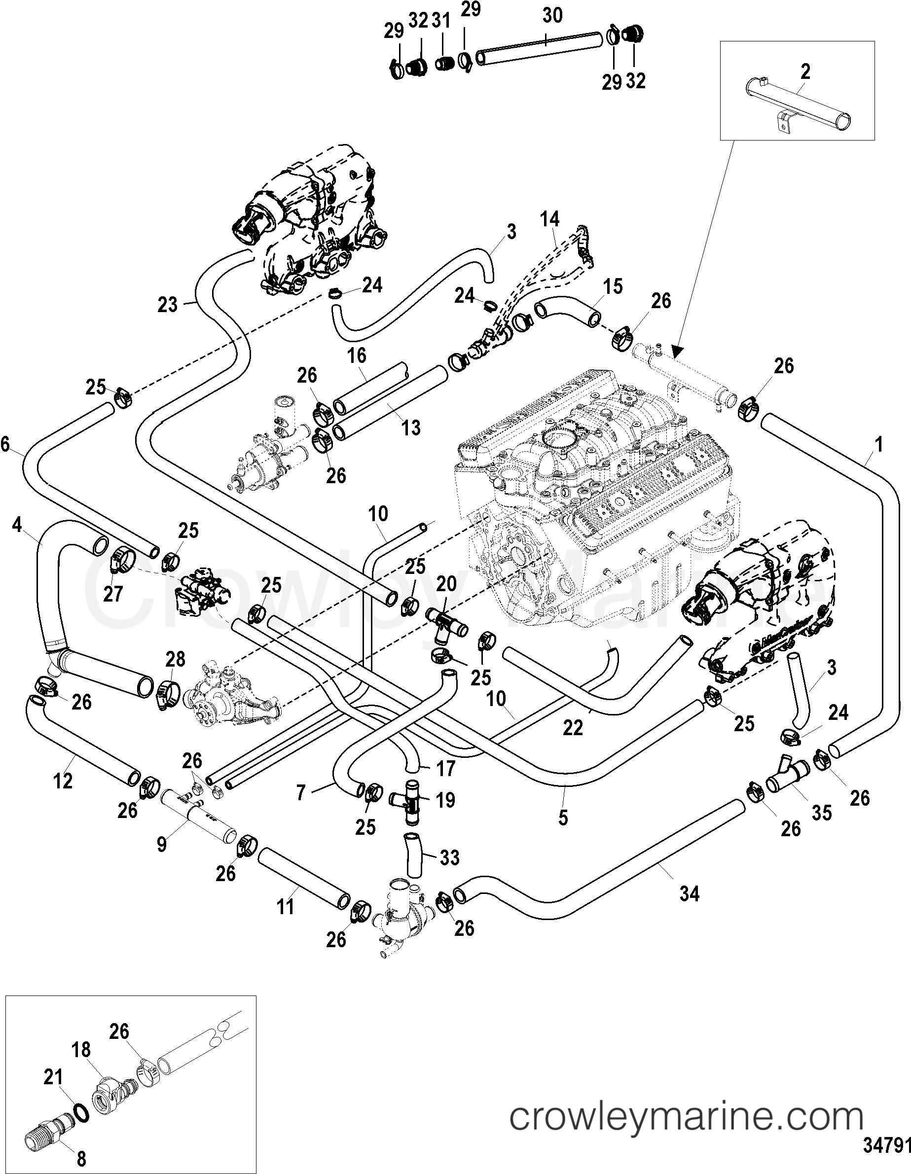 Standard Cooling System  V-drive