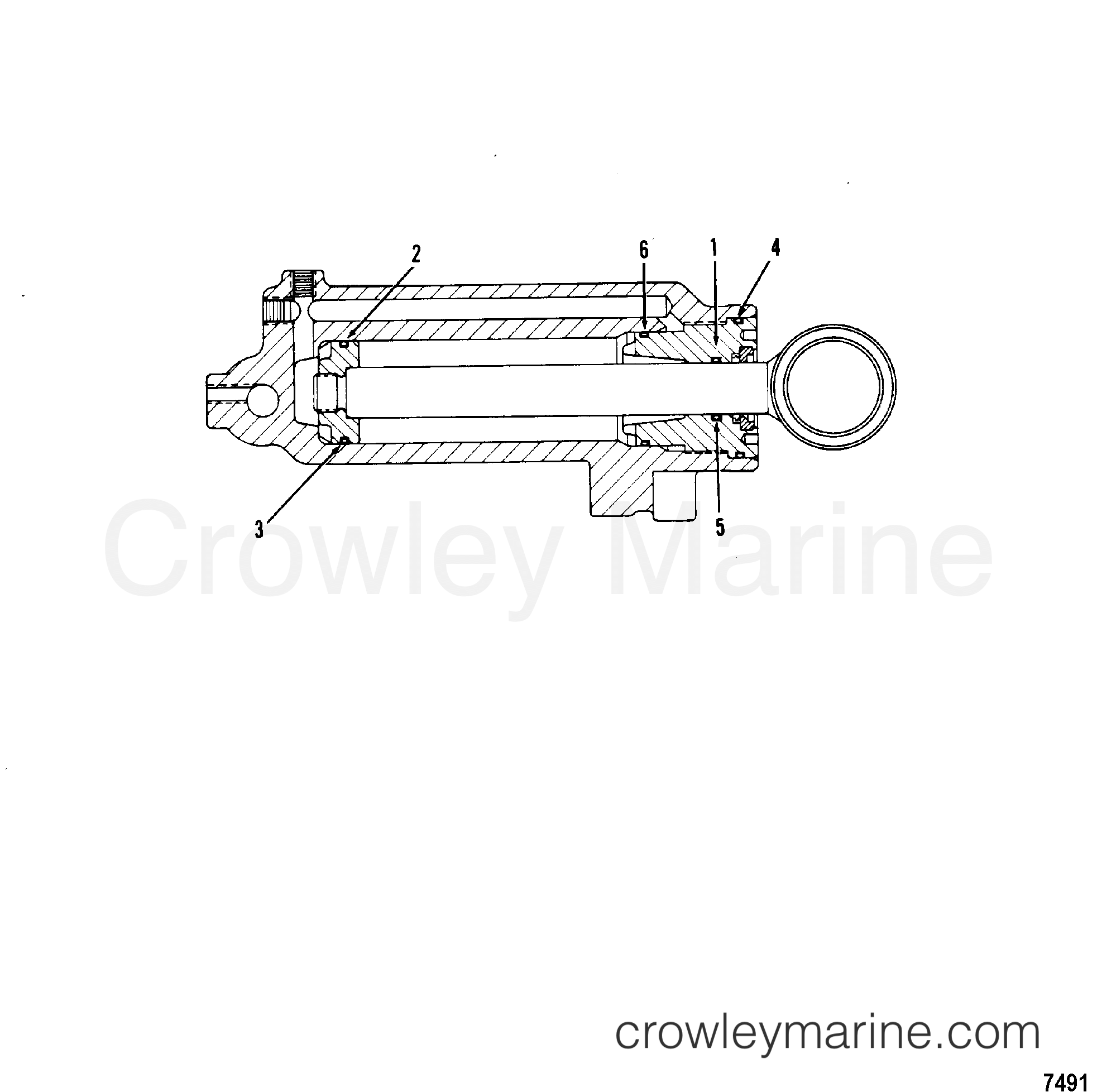 1980 Mercury Outboard 70 [ELPT] -  1070620 POWER TRIM CYLINDER REPAIR KITS, USE WITH 92194A14 section