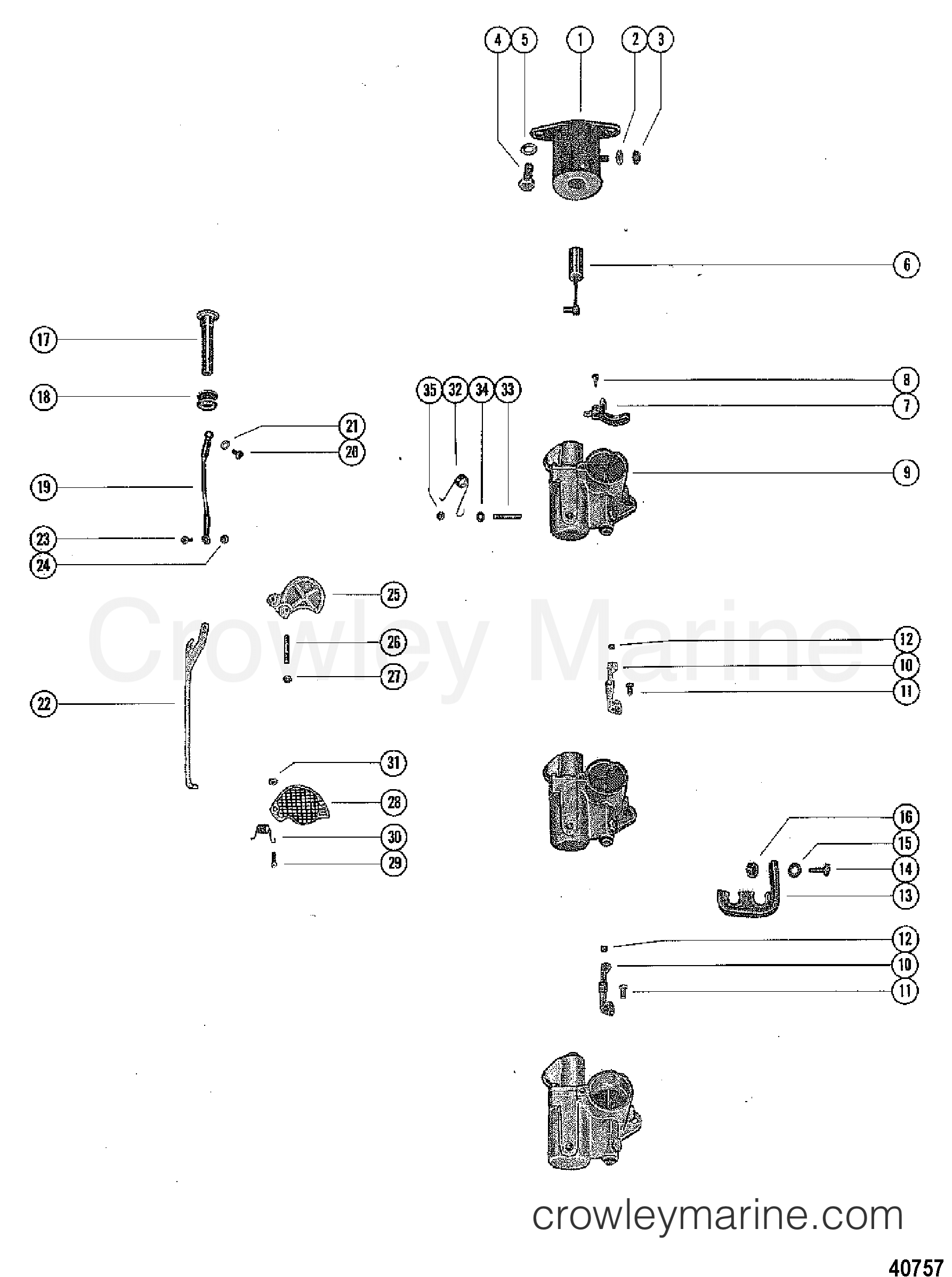 carburetor linkage and choke solenoid - 1976 mercury ... mercury outboard wiring harness color code 1976 mercury outboard diagram