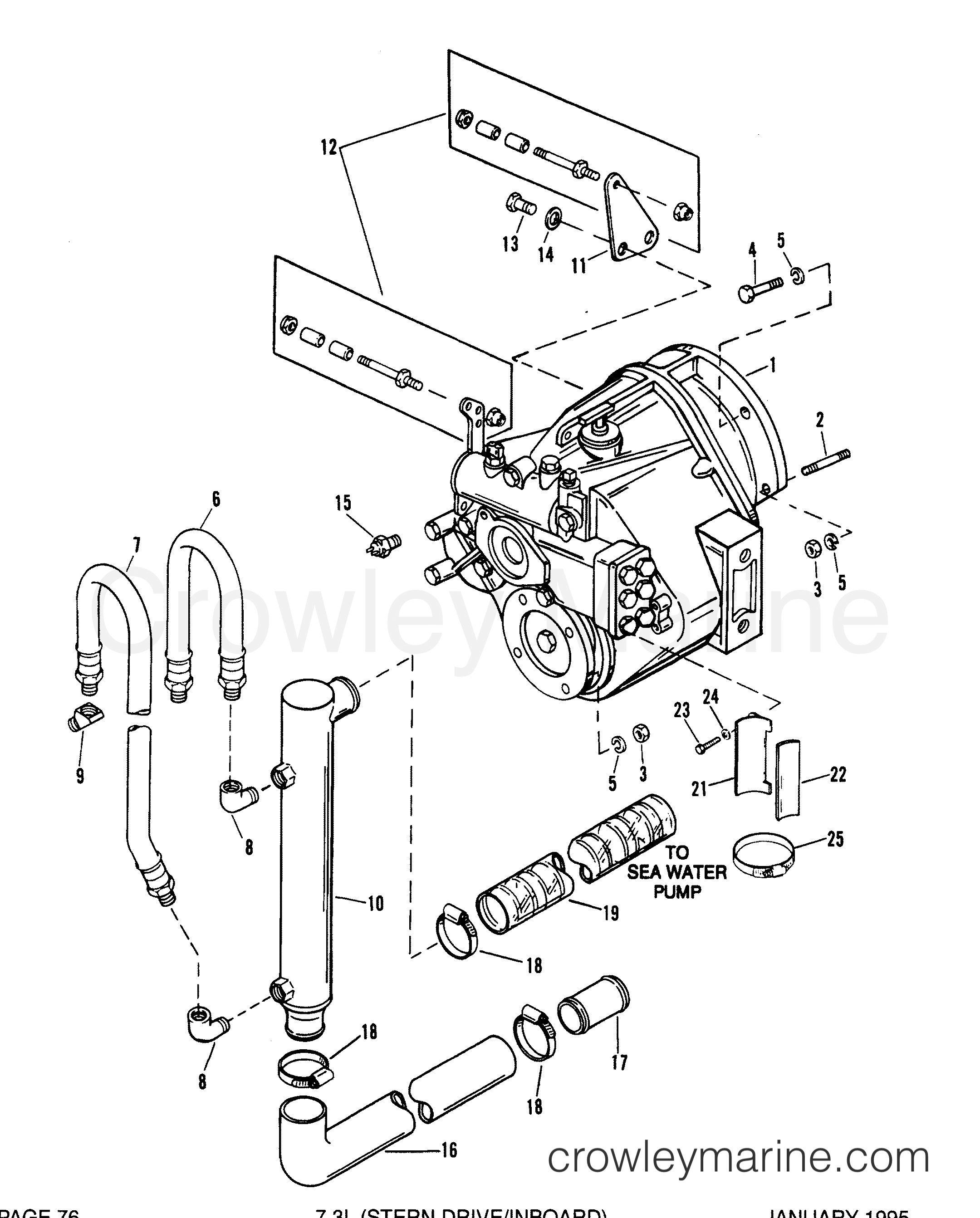 Mercury Transmission Diagrams : Transmission and related parts inboard mercruiser