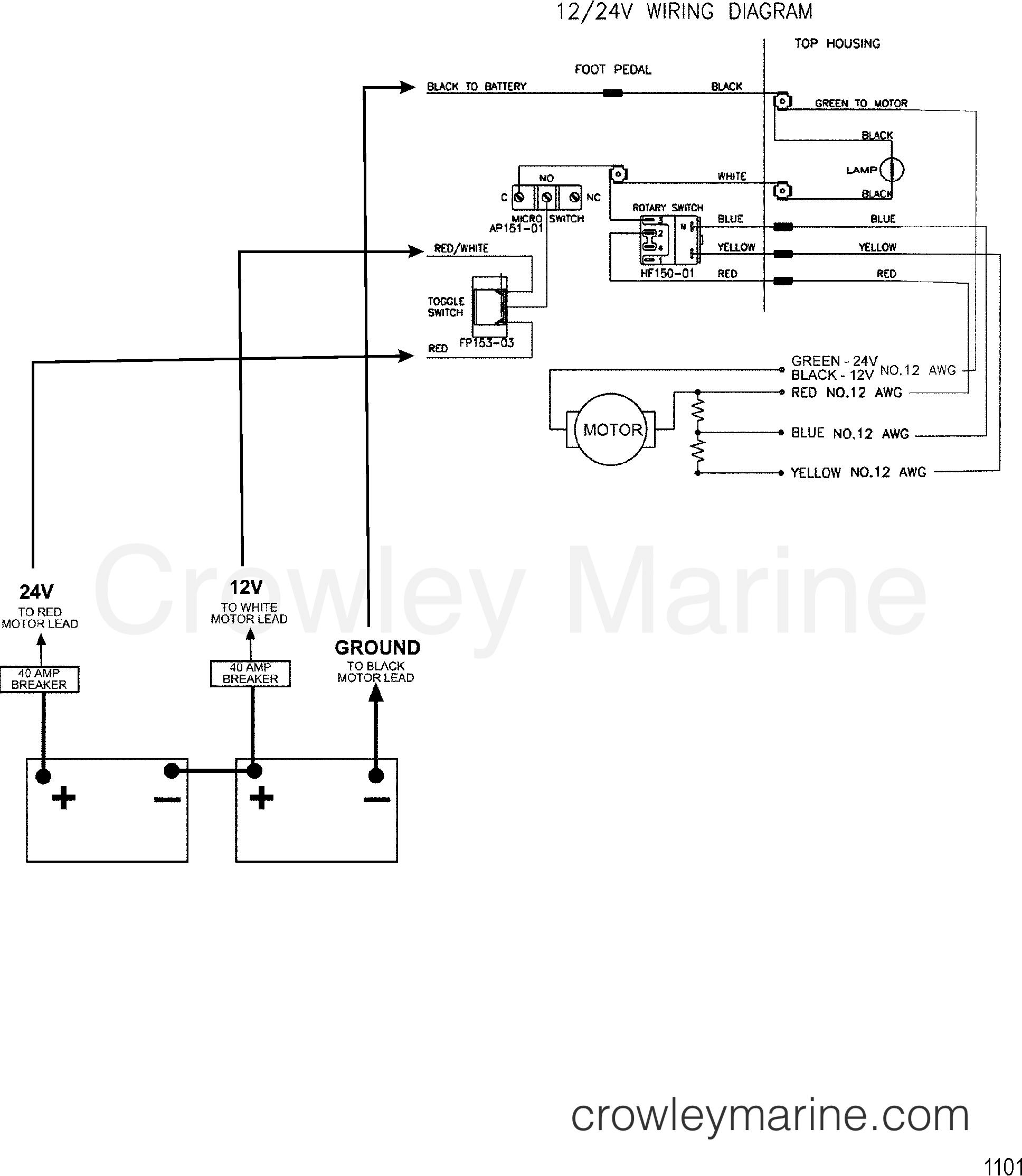 wire diagram model 767 24 volt 1999 motorguide. Black Bedroom Furniture Sets. Home Design Ideas