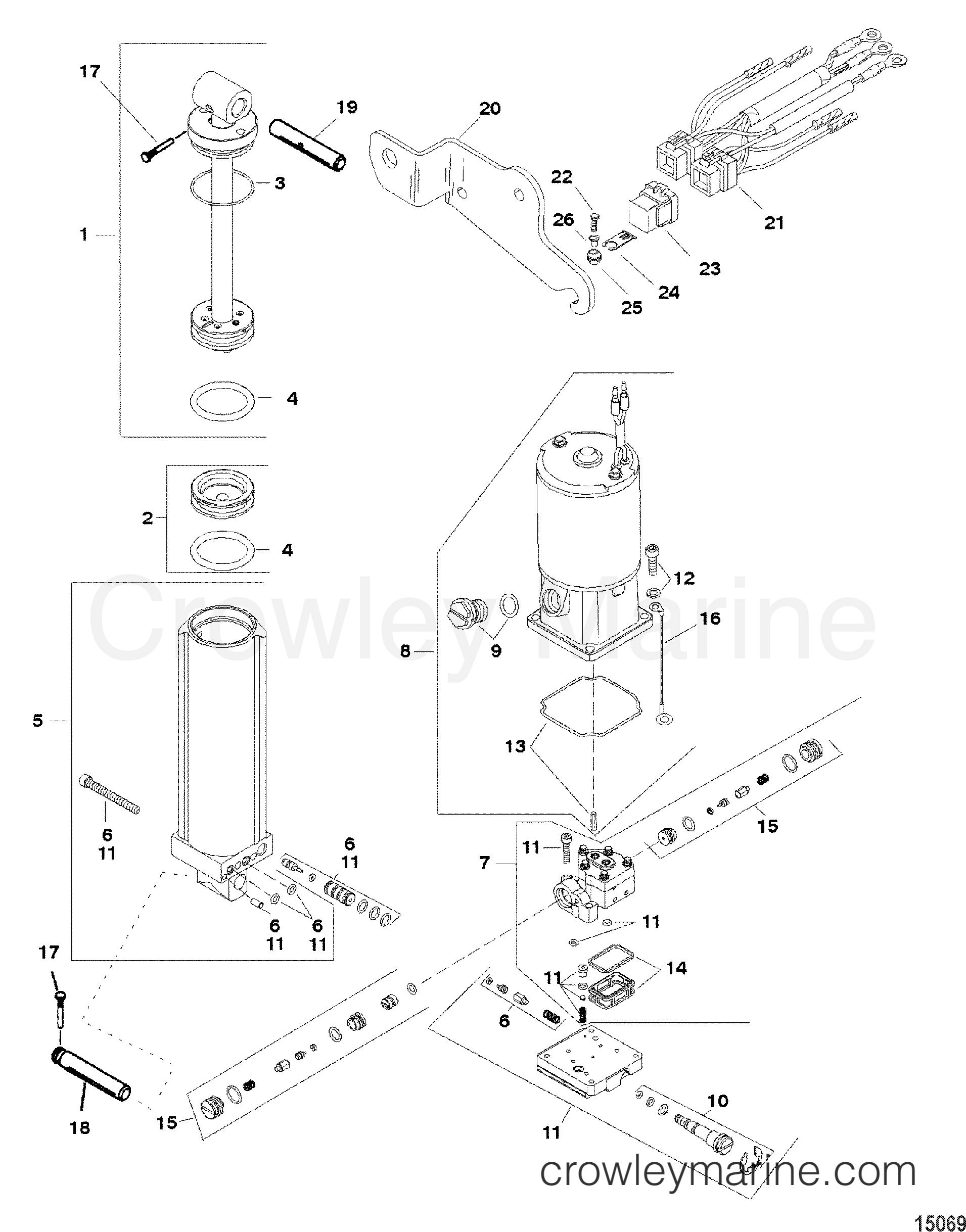 power trim pump assembly 830150a2