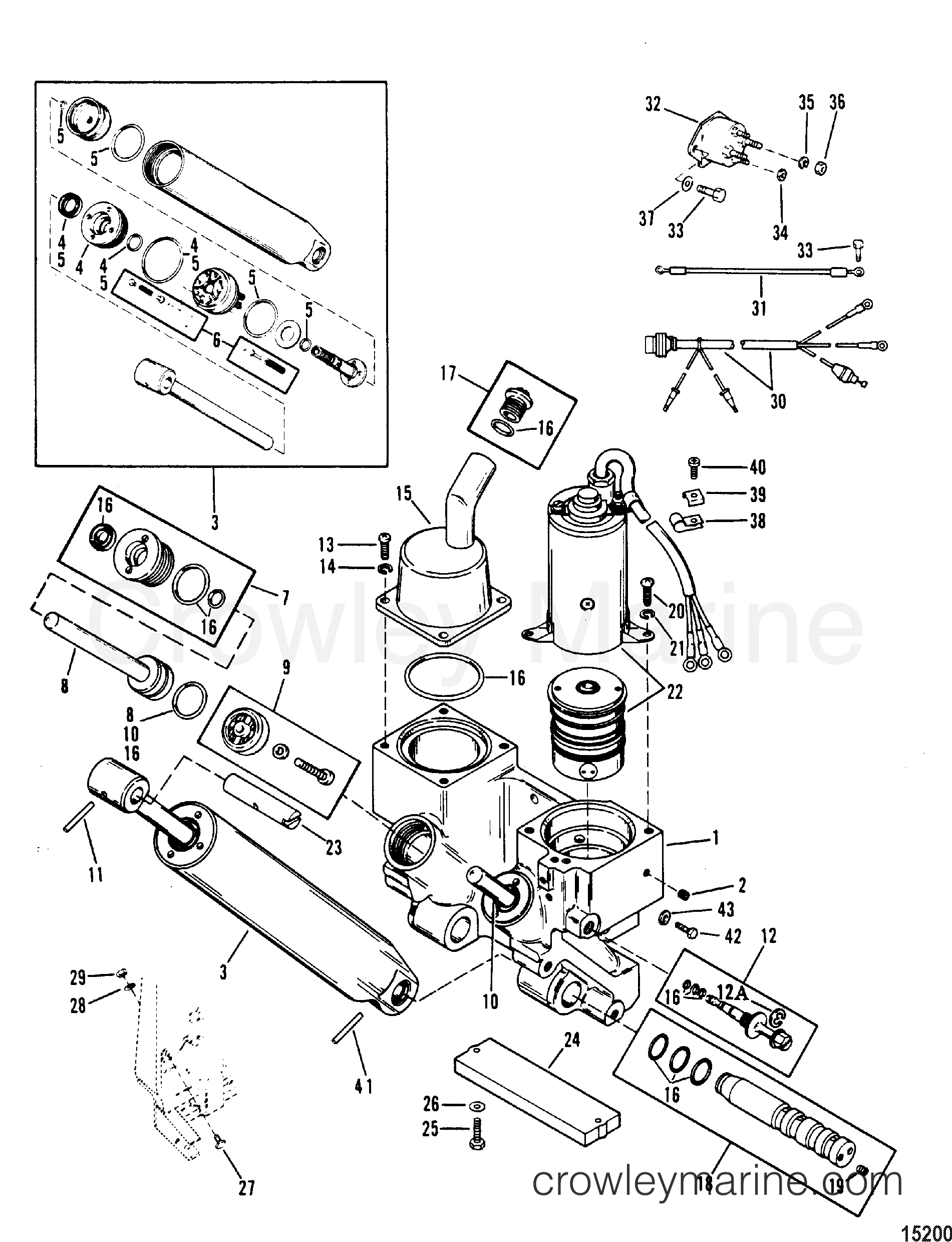 Mariner Outboard Trim Wiring Diagram Harness 75 Hp Force Schematic Power Components 1988 Elo 7075312nd 1989