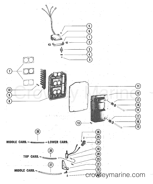 enricher valve and sound attenuator