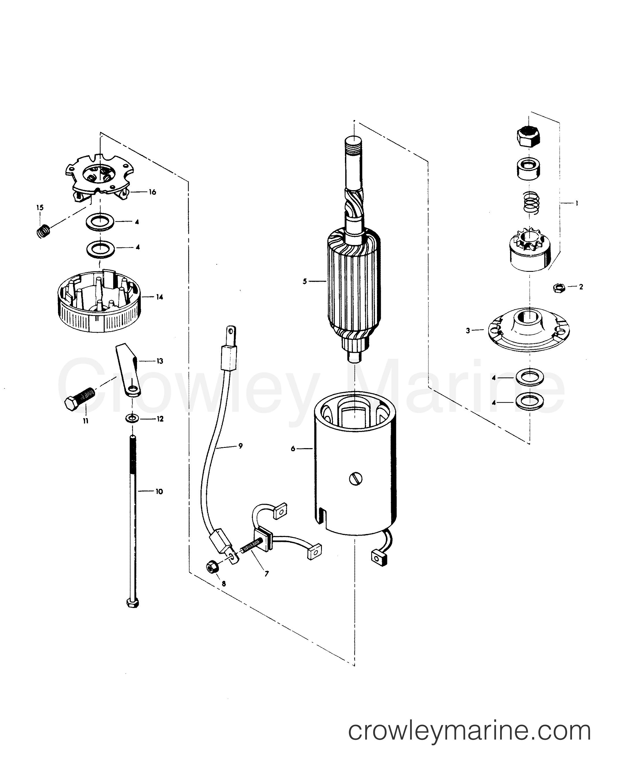 1982 Force Outboard 140 - H1408H82D - STARTER