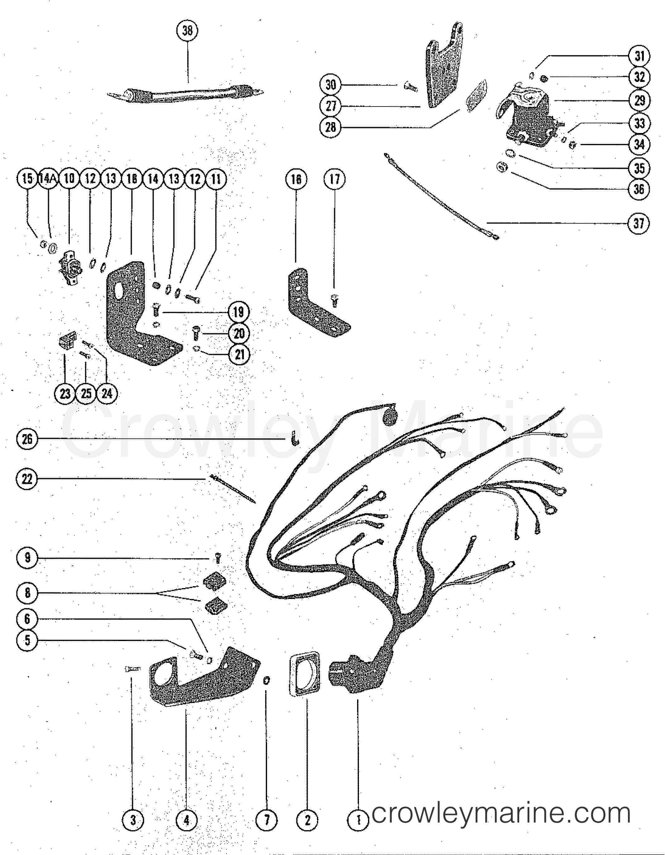 Mercruiser 888 Trim Wiring Diagram Posts 470 Harness And Starter Solenoid 1975 2888205