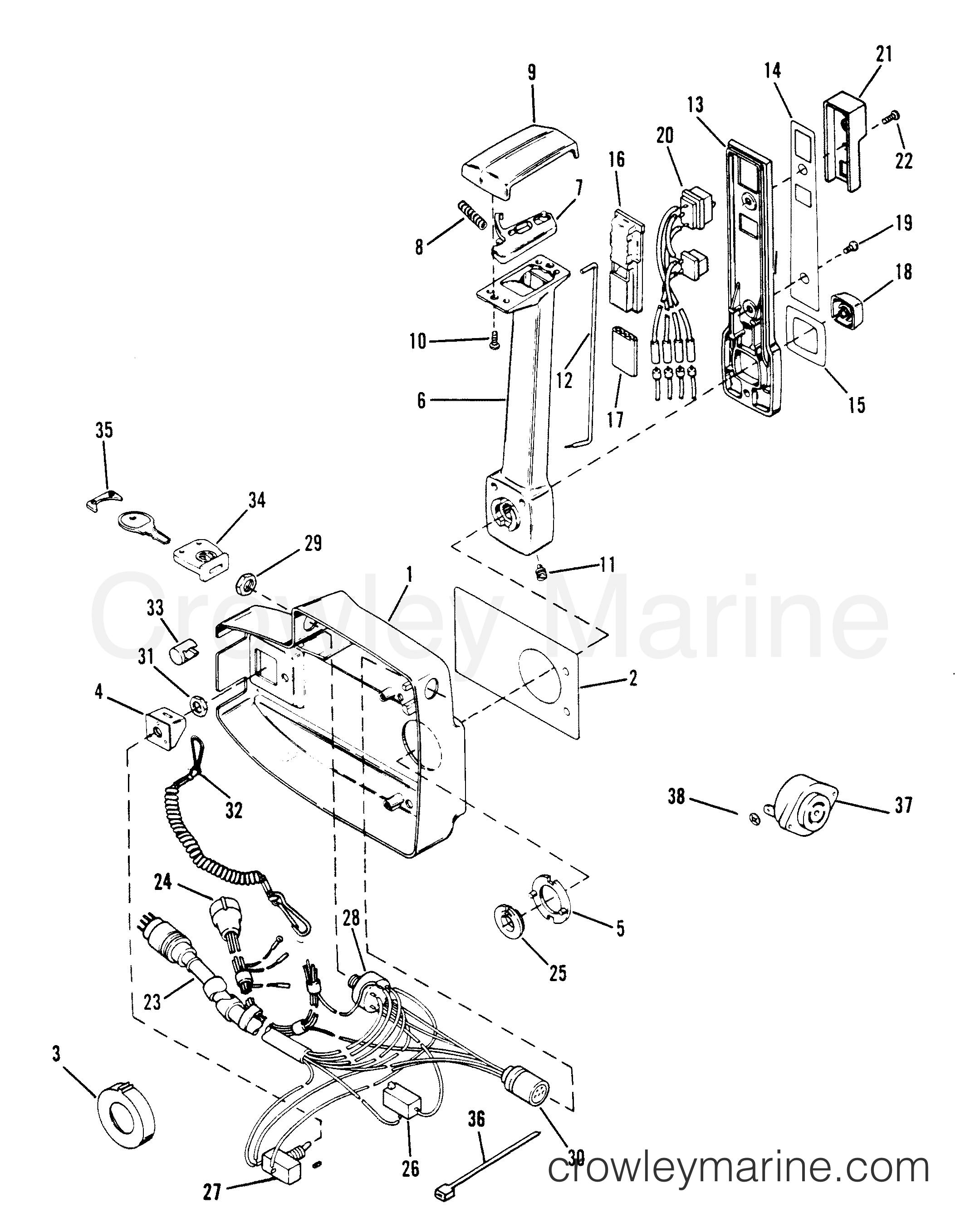 remote control assy  w  power trim