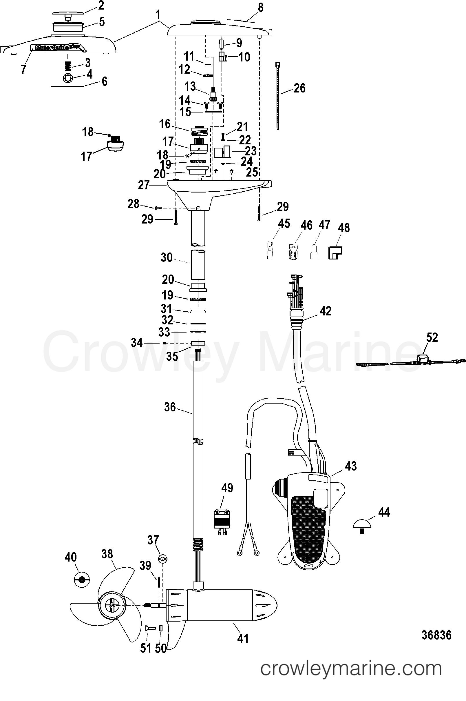 complete trolling motor tr109fb    tr109fbd   36 volt
