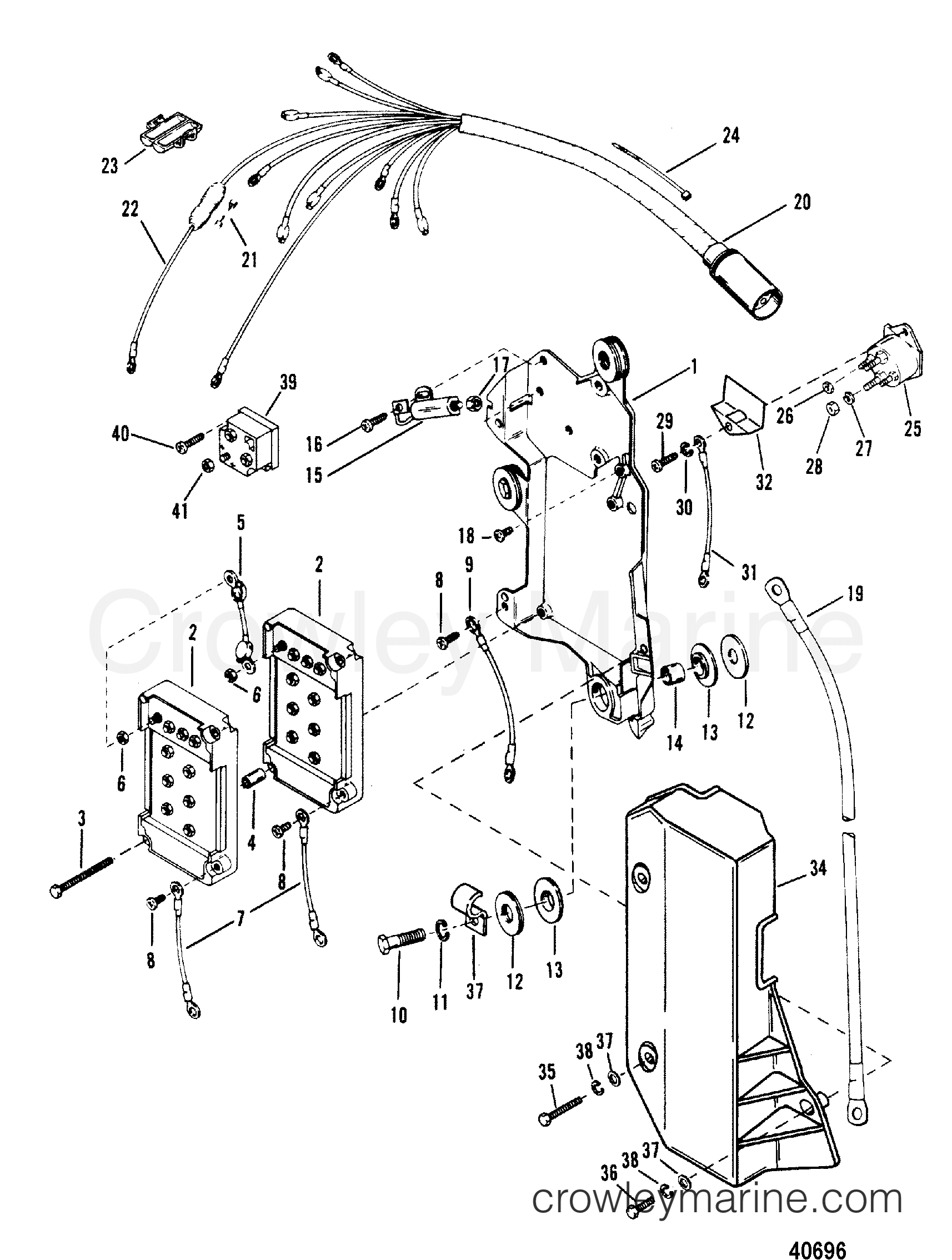 1989 Mariner Outboard Wiring Diagram Expert Schematics 1976 Mercury 200 Engine Harness Starter Solenoid Cxl Schematic