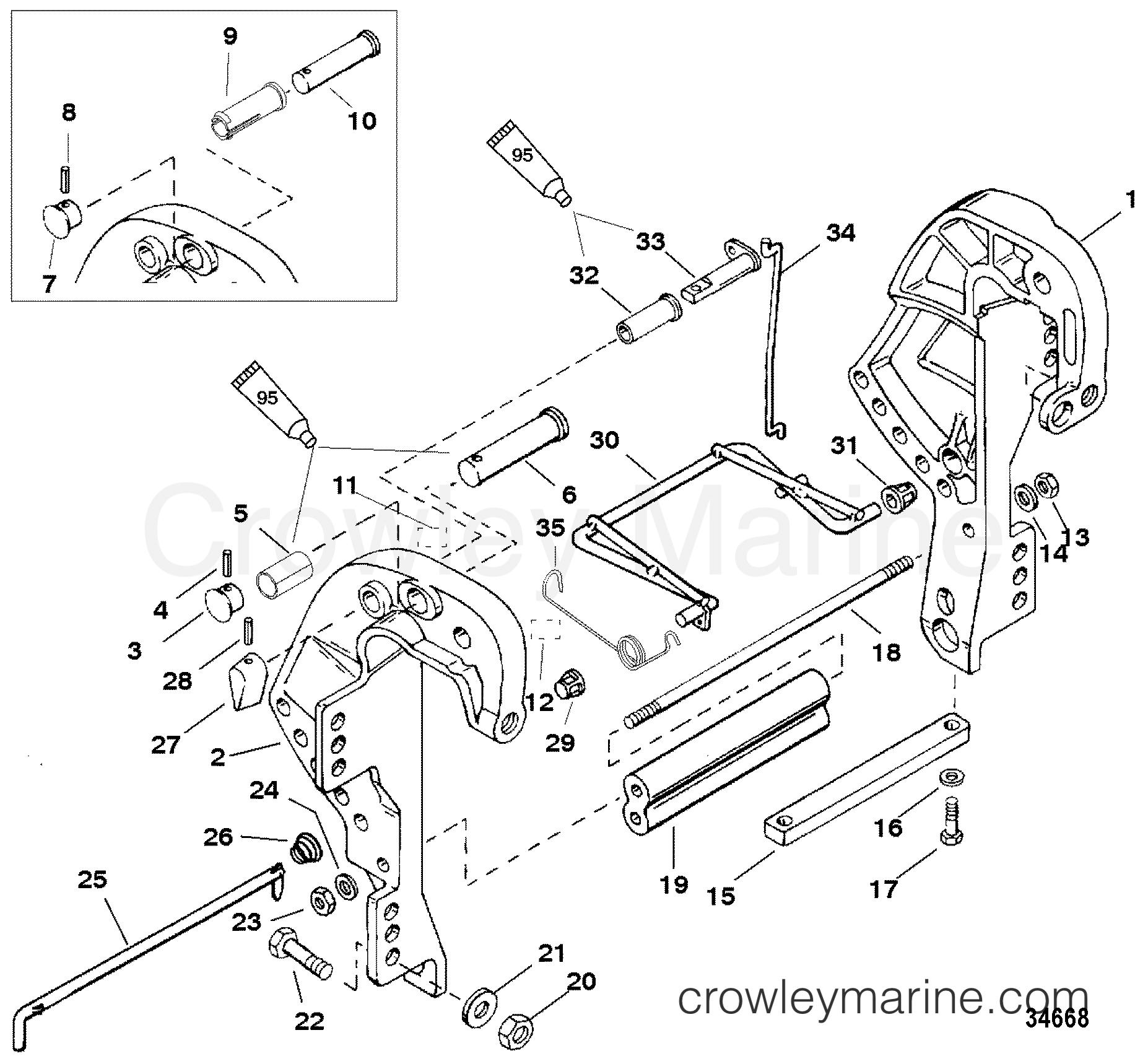 clamp bracket  remote control  bf 4  1f25311ve