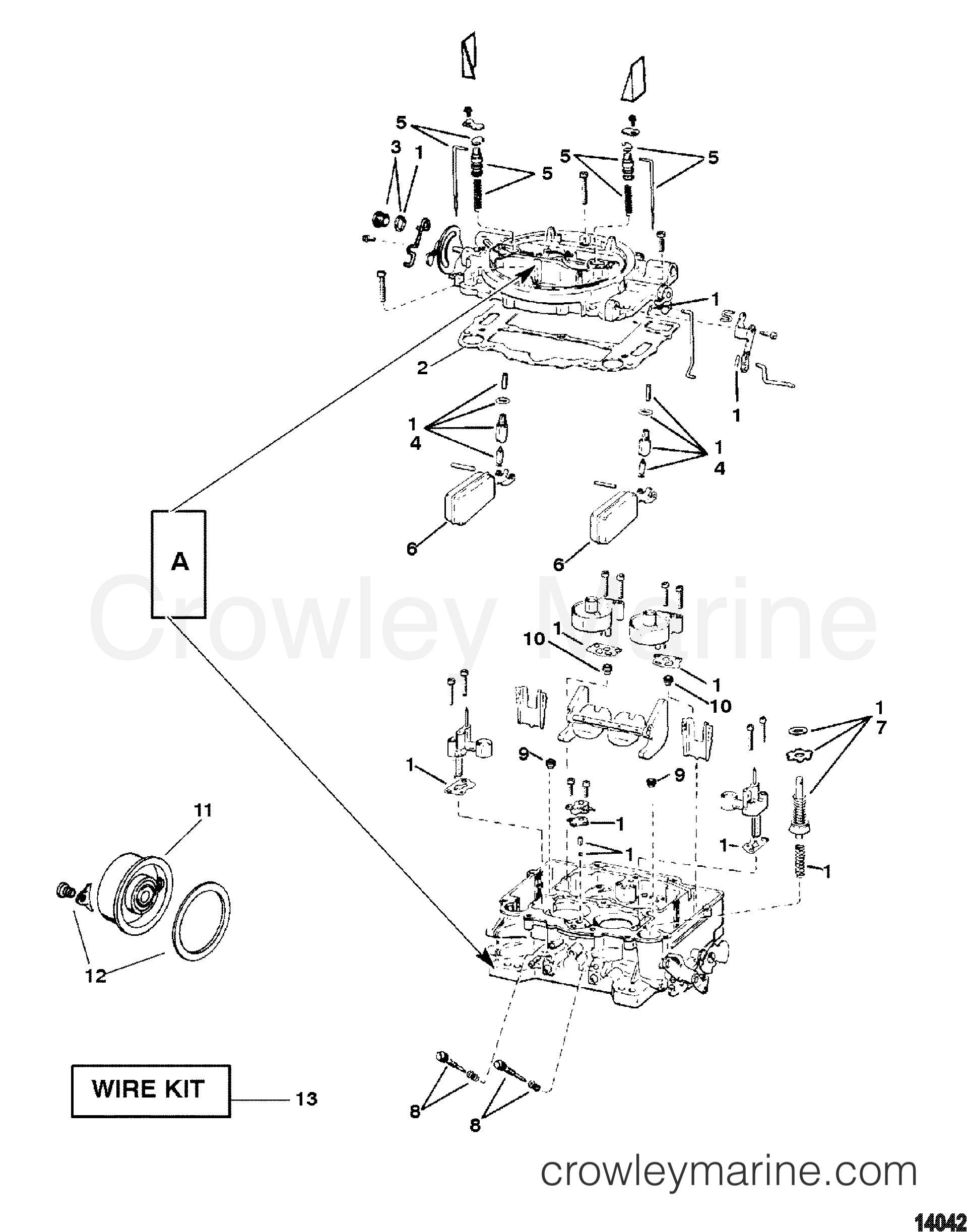 mercruiser 120 carburetor diagram