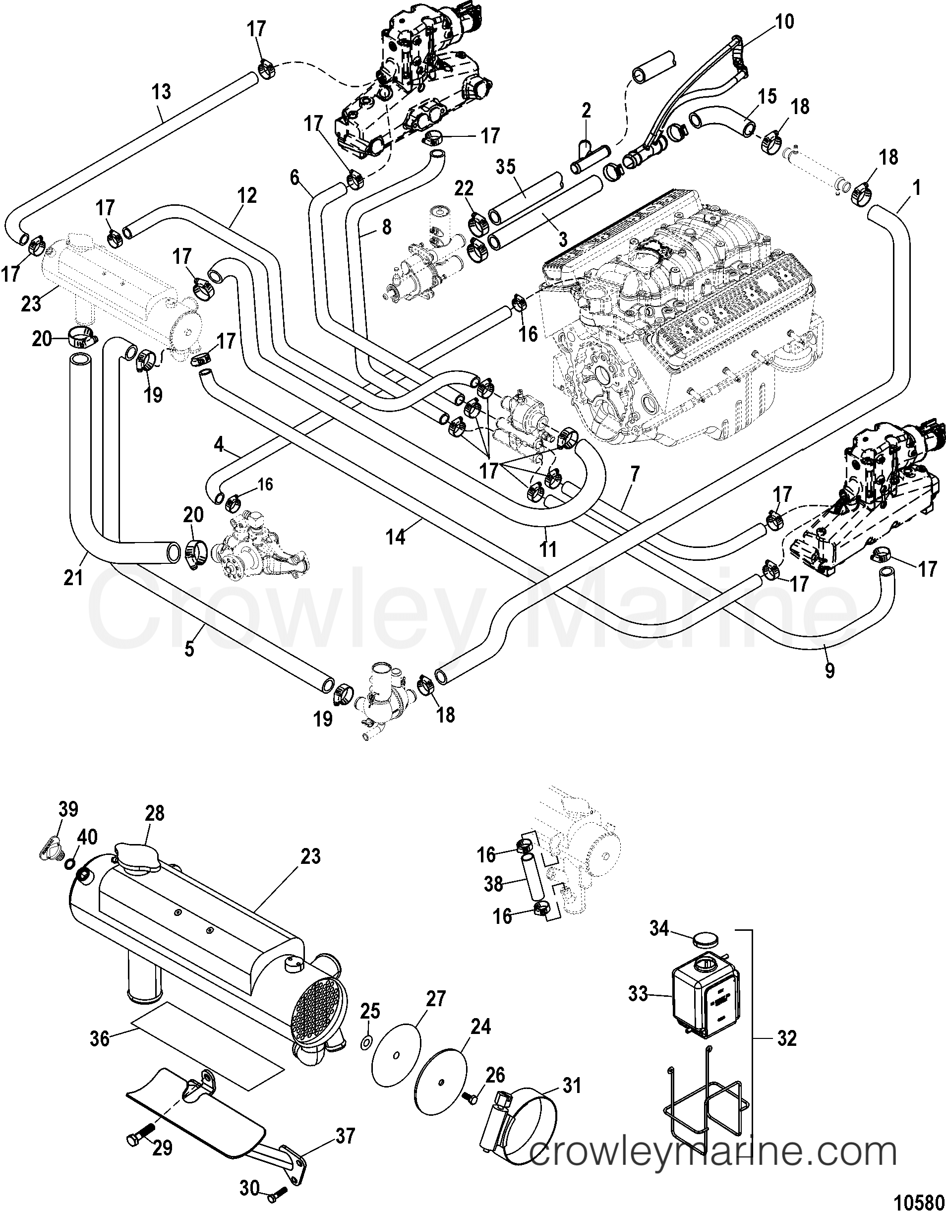 diagram  1984 mercruiser inboard electrical engine