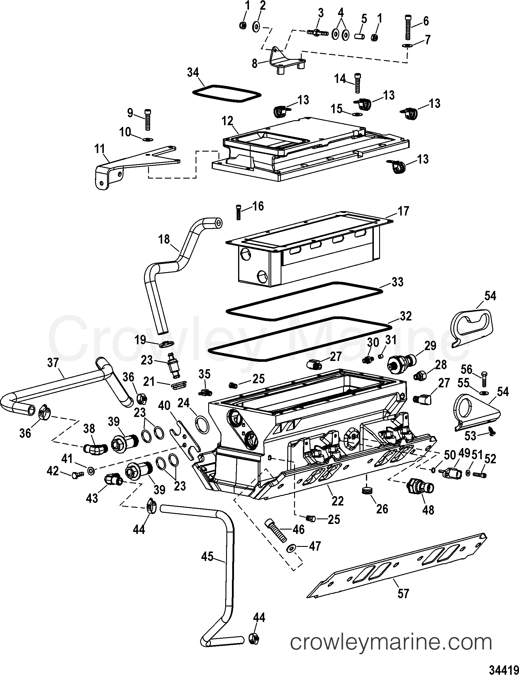 intake components intercooler and manifold