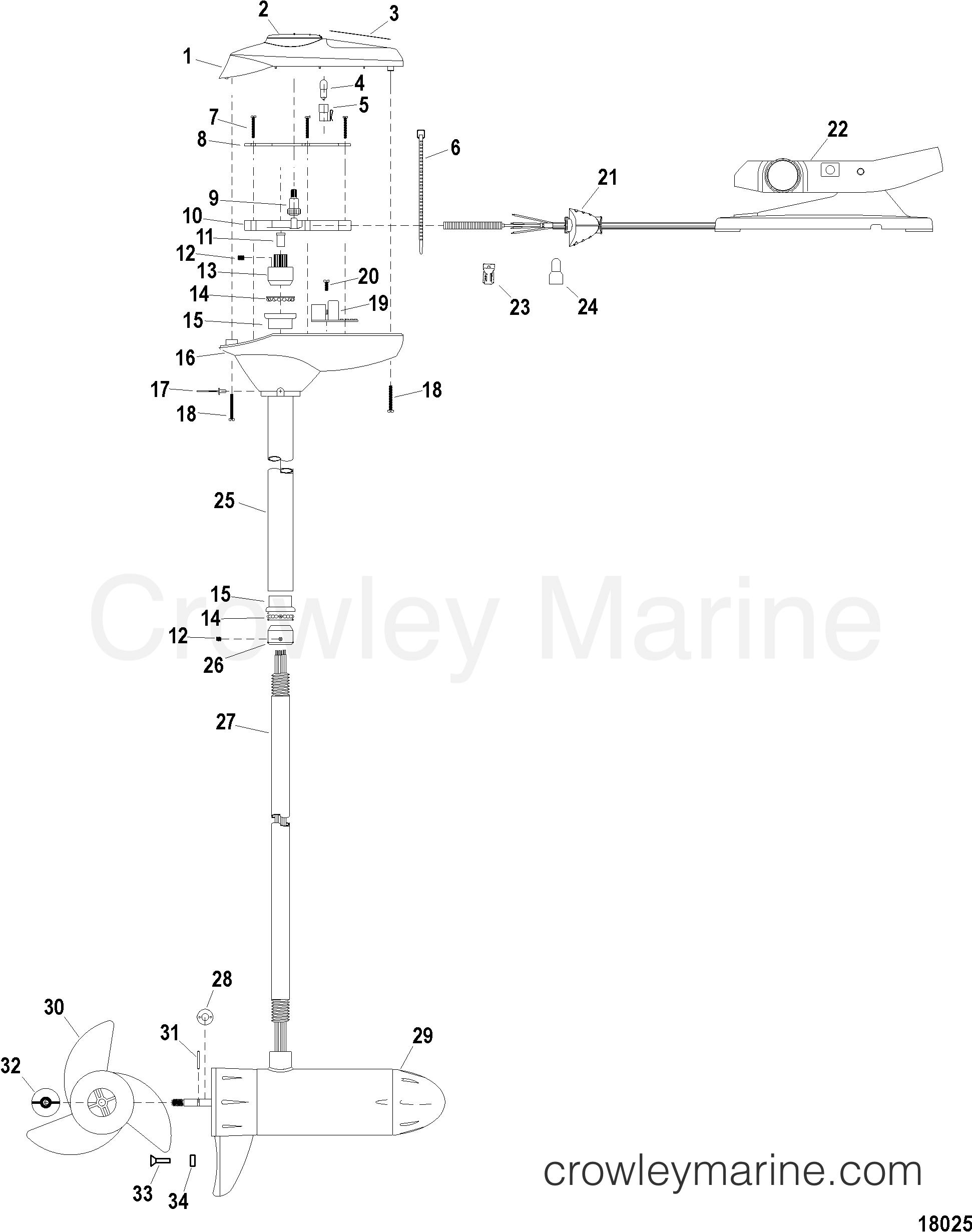 complete trolling motor model fw54fbv   12 volt  2003 24 volt trolling motor wiring diagram