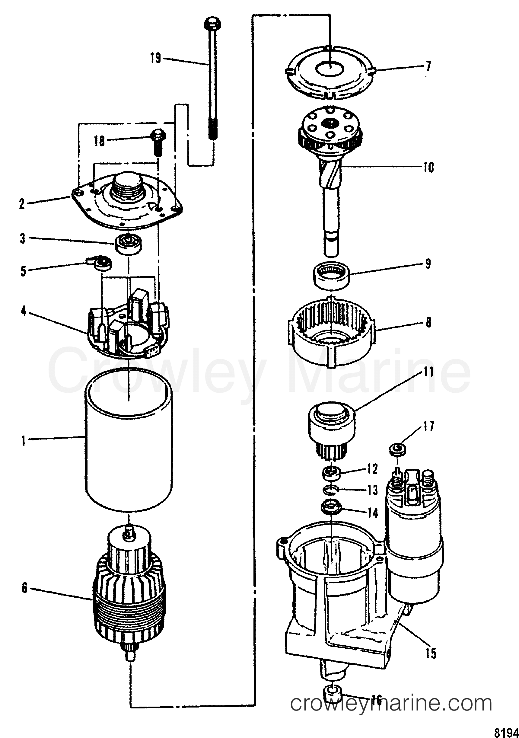 Delcoremy 10si Alternator Exploded View Parts Breakdown 27si Delco Remy Wiring Diagram