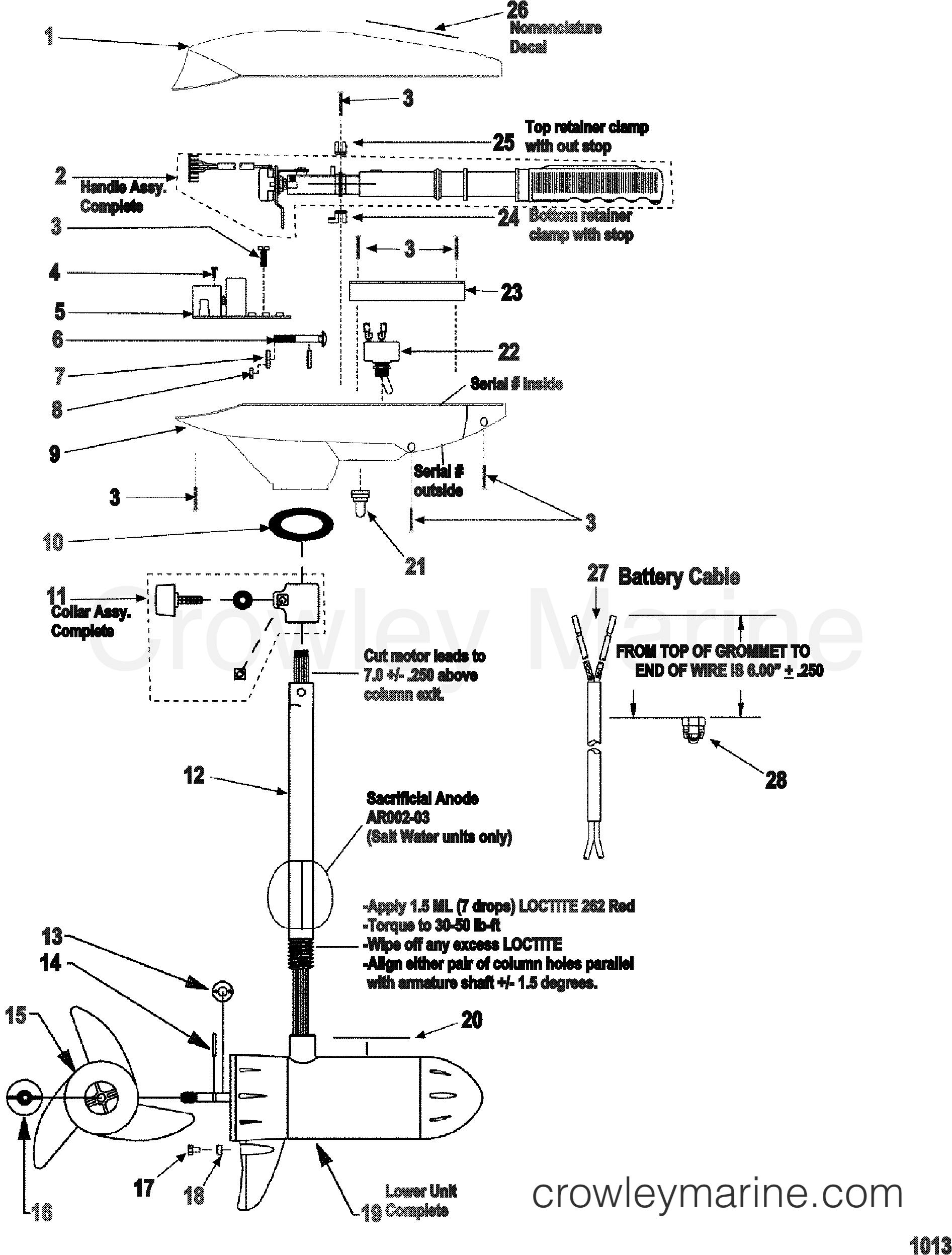 2000 MotorGuide 12V [MOTORGUIDE] - 9EF54B5W8 - COMPLETE TROLLING MOTOR(MODEL ET54V) (24 VOLT) section
