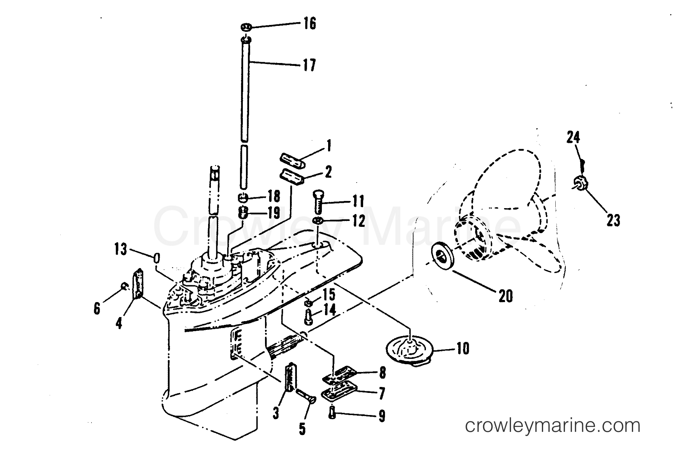 LOWER GEAR HOUSING ASSEMBLY