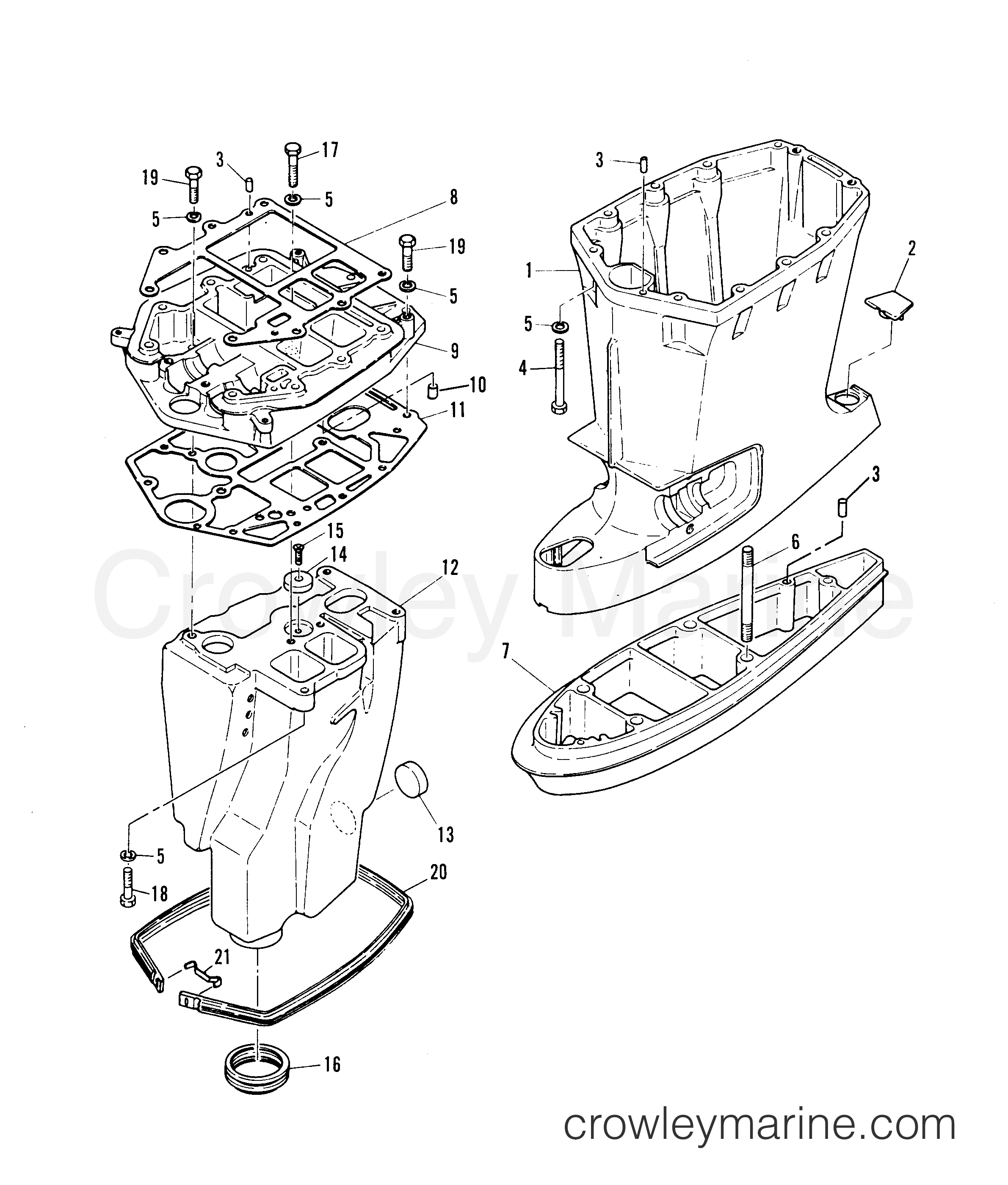 1984 Mariner Outboard 55 [ML] - 7055324 - DRIVESHAFT HOUSING section
