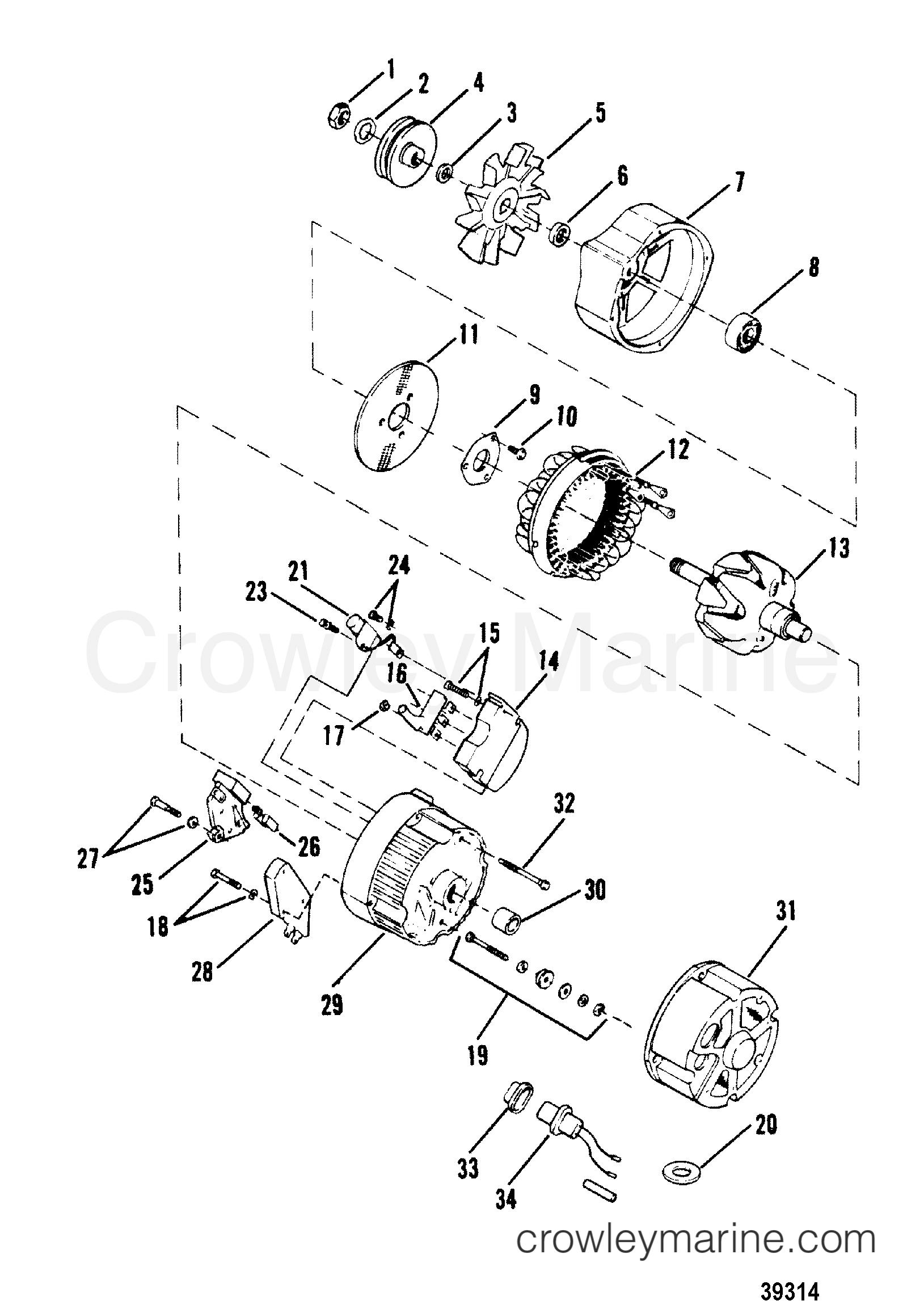 alternator delco-remy  1105064