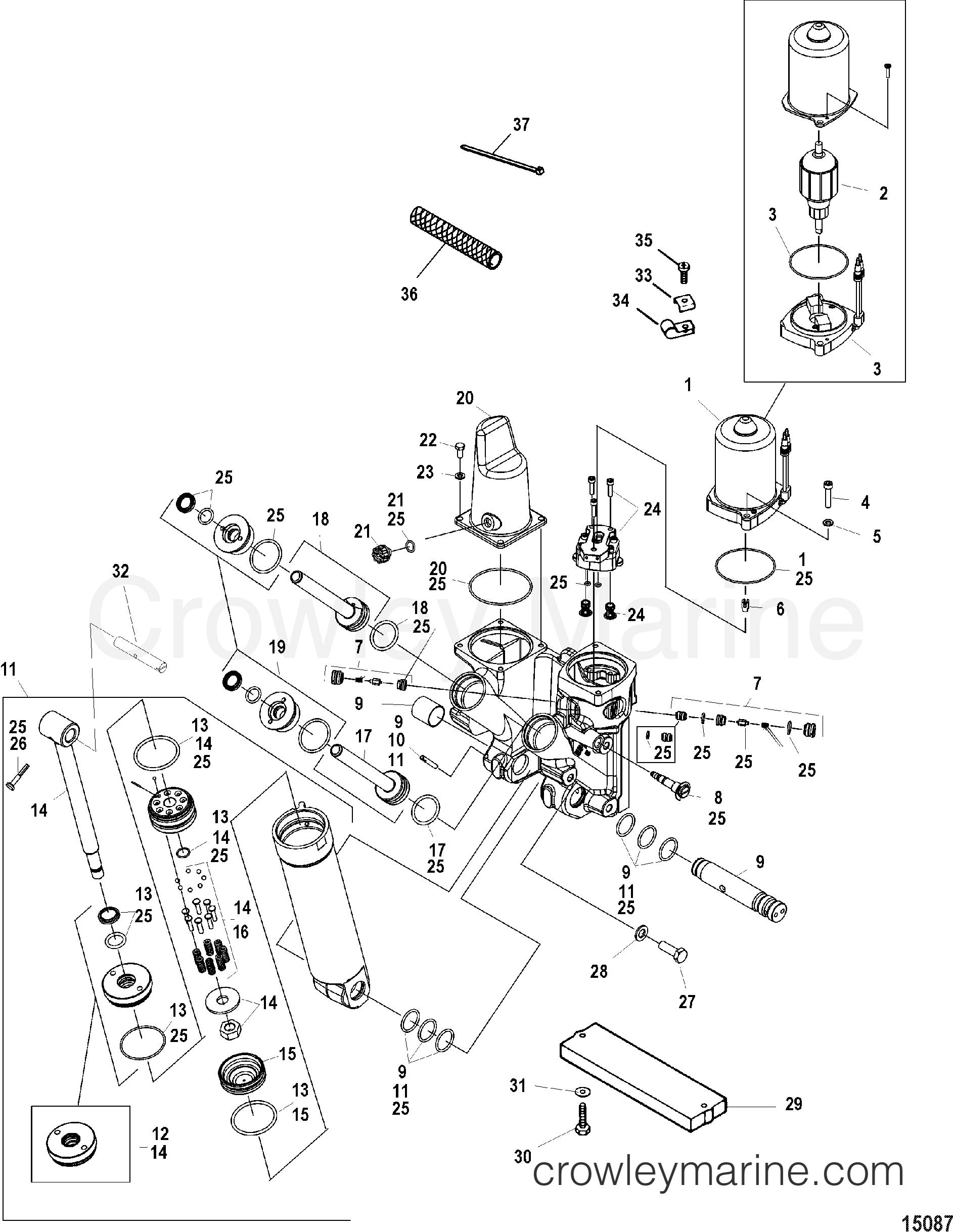 power trim kit 855998t1 855998a3 various years rigging parts rh crowleymarine com