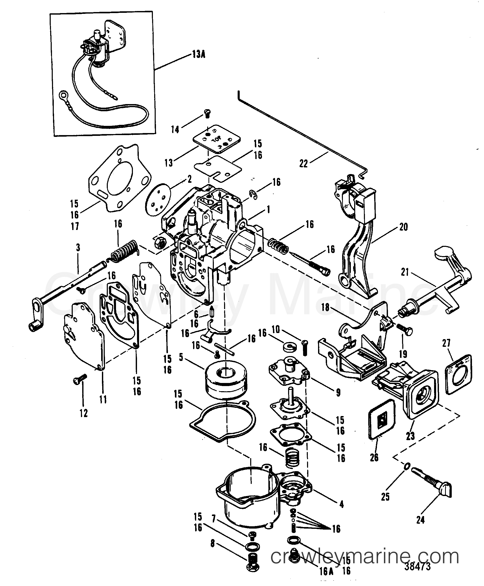 carburetor wmc 9 10 11 12 24 25 26 27 1977 mariner. Black Bedroom Furniture Sets. Home Design Ideas