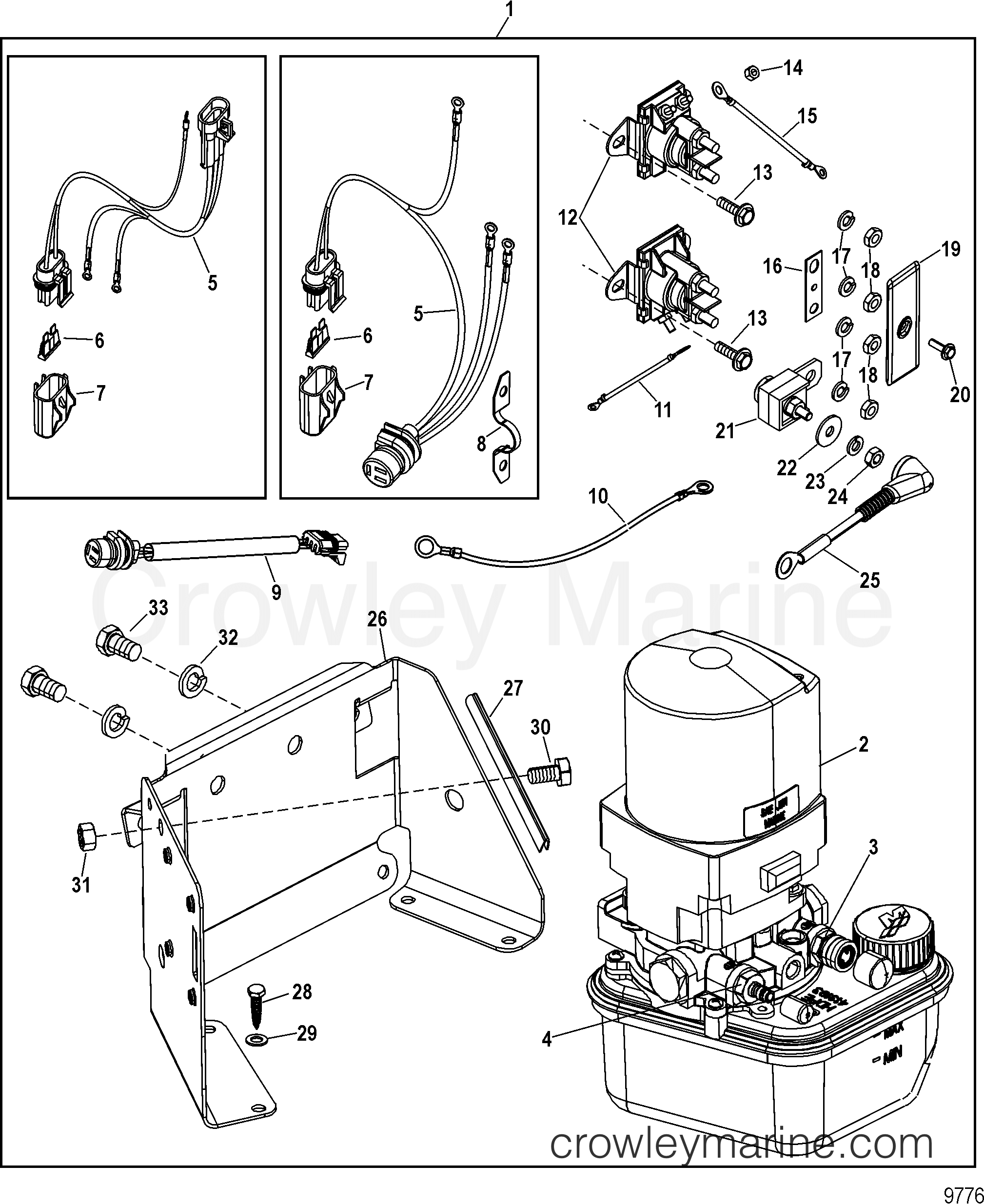 2003 Mercruiser Race Sterndrive 525 EFI [BRAVO] - 4WA2025SH - TRIM PUMP  ASSEMBLY(