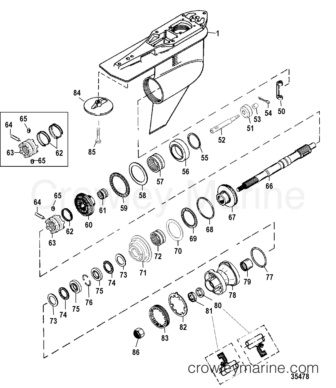 Gear Housing Propeller Shaft Counter Fleetmaster 1998