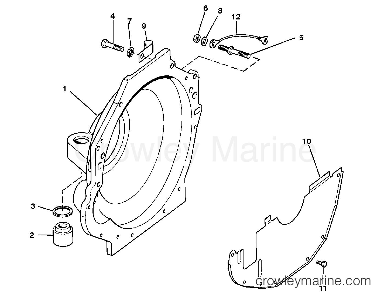 1993 Mercruiser Race Sterndrive 525SC [III/V] - 4525290FH FLYWHEEL HOUSING (BRAVO PLUG-IN MODEL) section