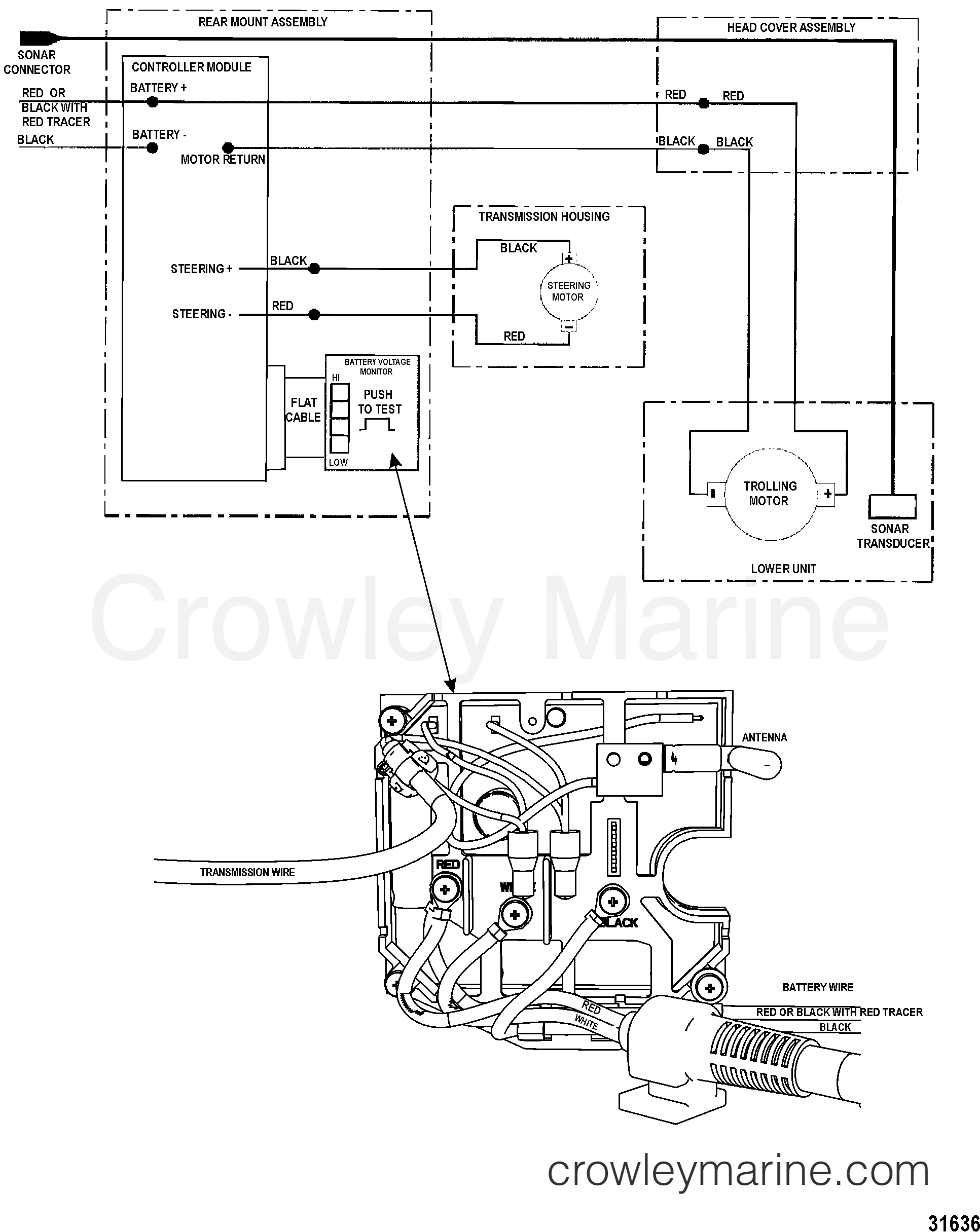 2002 MotorGuide 12V [MOTORGUIDE] - 9MP4301Z1 - WIRE DIAGRAM(WIRELESS  MODELS) (