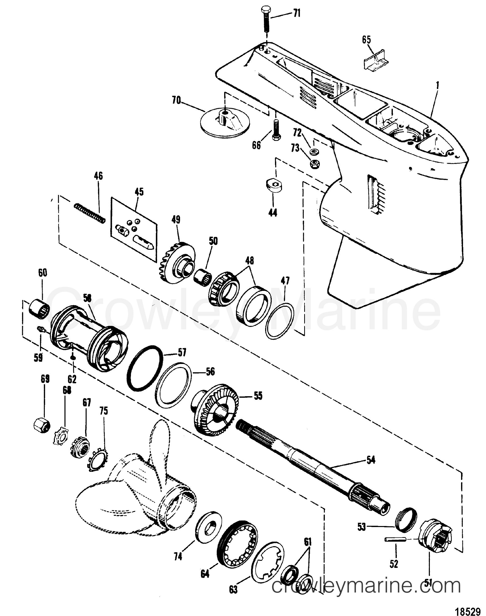 gear housing propeller shaft  casting  1655-9572c