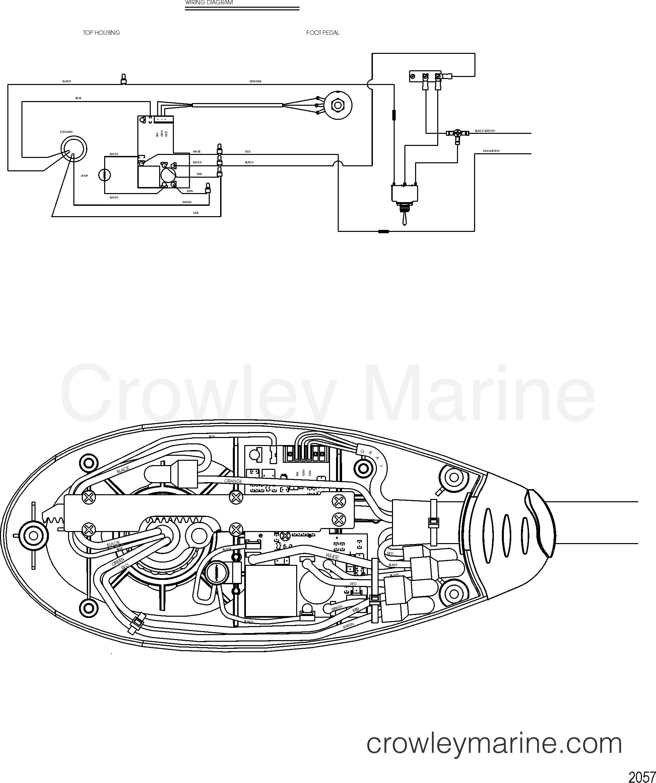 2006 MotorGuide 12V [MOTORGUIDE] - 923310040 WIRE DIAGRAM(MODEL FW54FBV) section