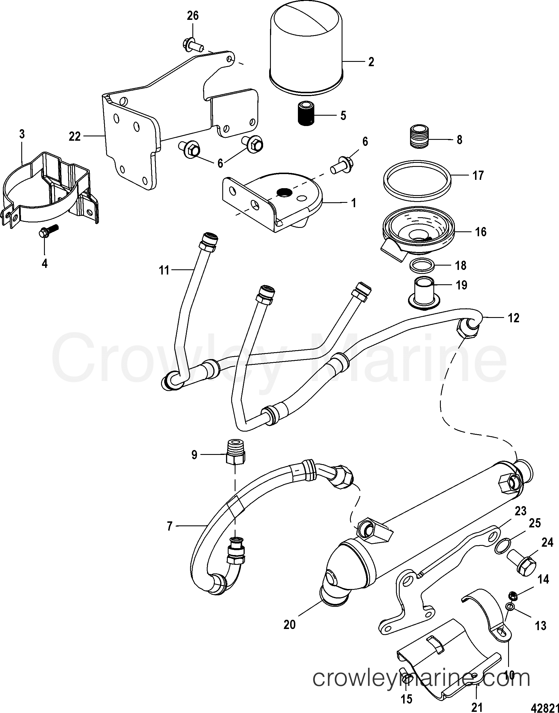 remote oil system 2a041664 below 1998 mercruiser 8 2l ho bravo Gasoline Engine Diagram 1998 mercruiser 8 2l ho bravo mpi 40820035u remote oil system