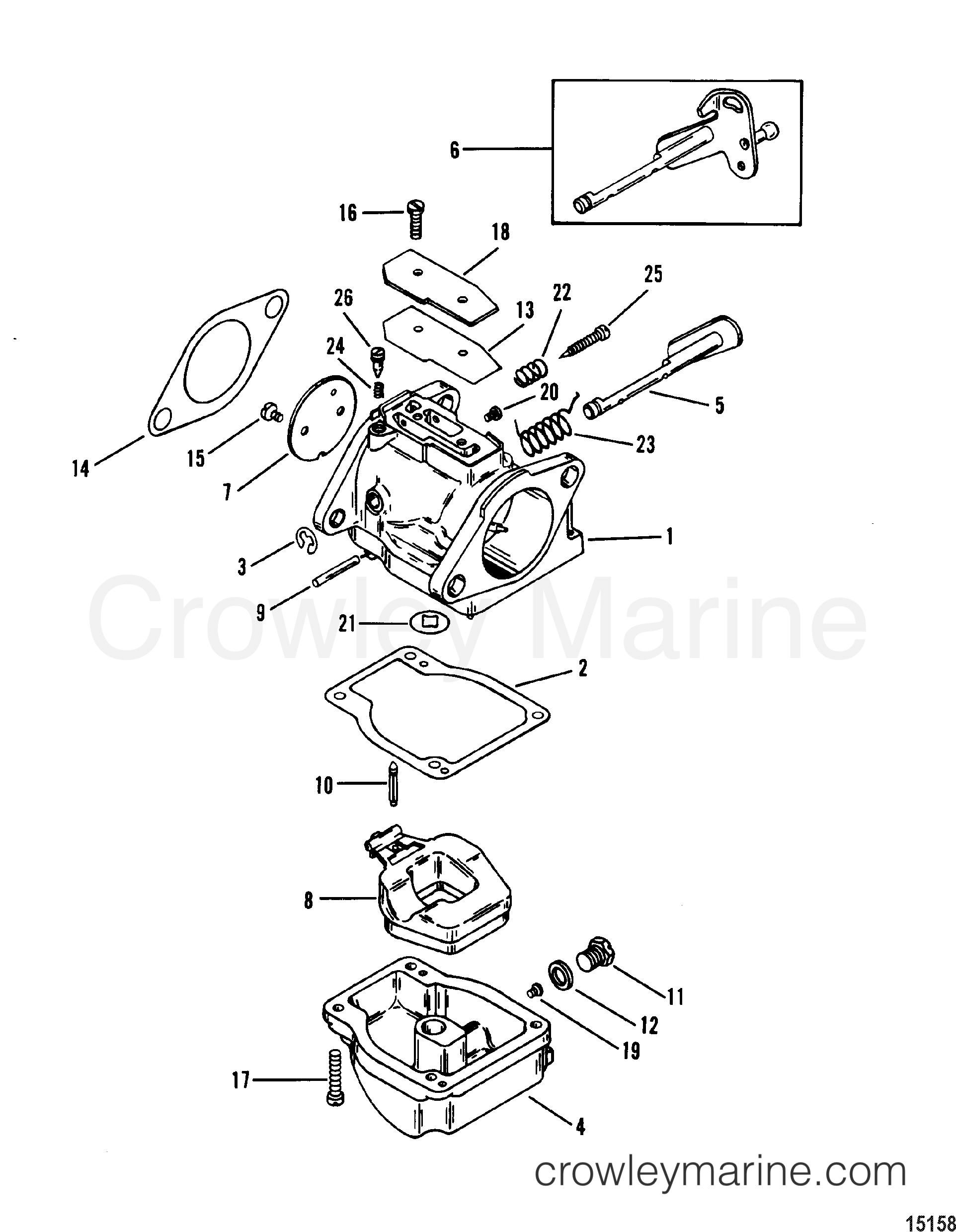 Serial Range Mercury Outboard 90 (3 CYL.) - 0B240451 THRU 0C221999 [USA] - CARBURETOR section