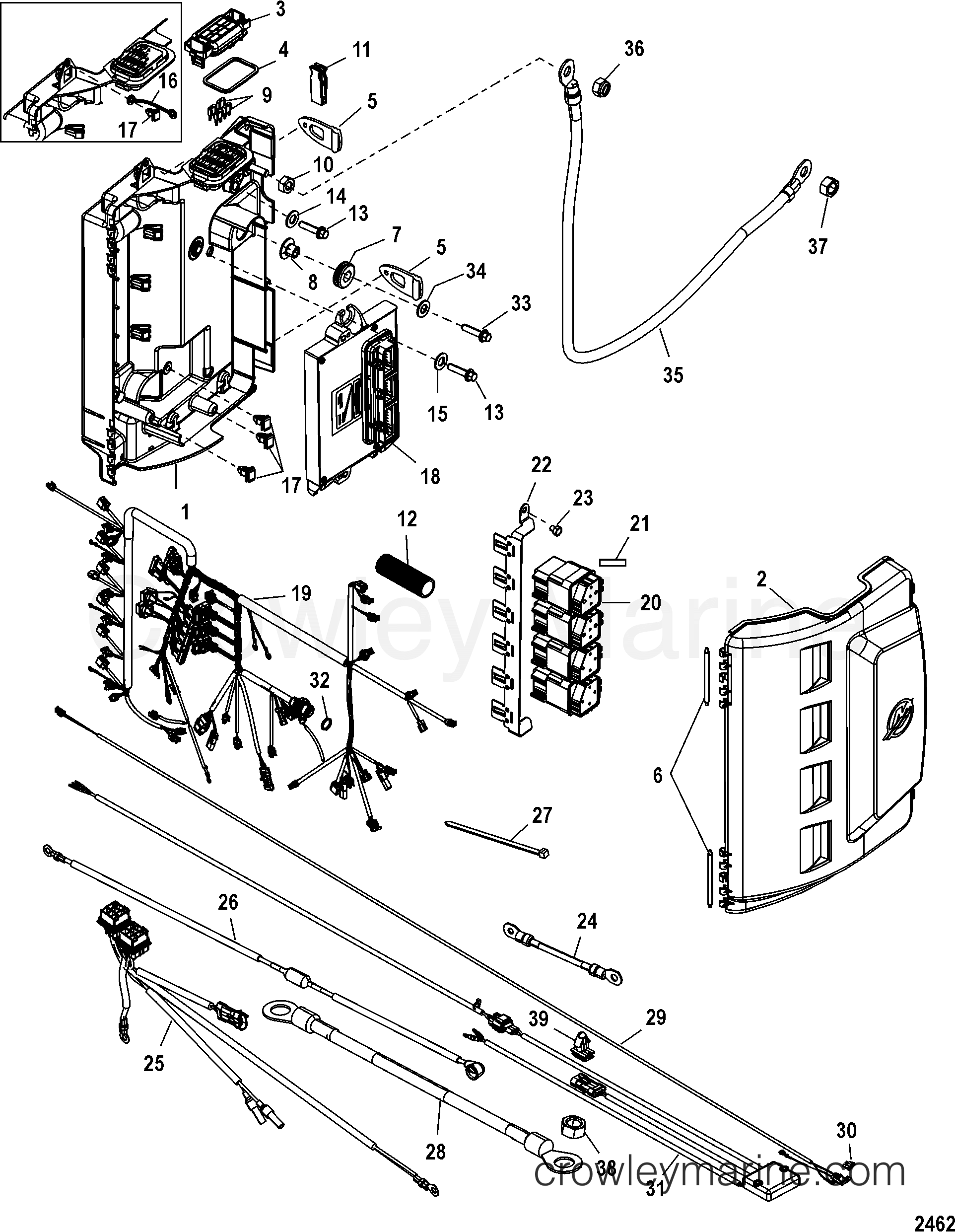 electrical box components 2005 mariner outboard 200 cxl. Black Bedroom Furniture Sets. Home Design Ideas