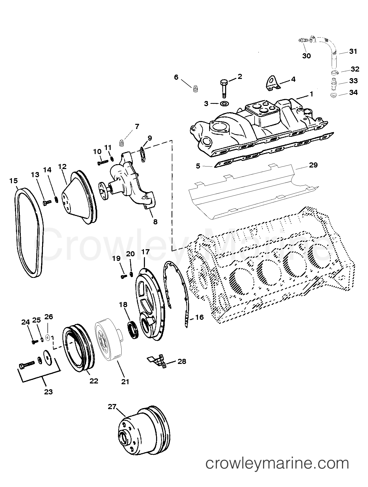 intake manifold and front cover