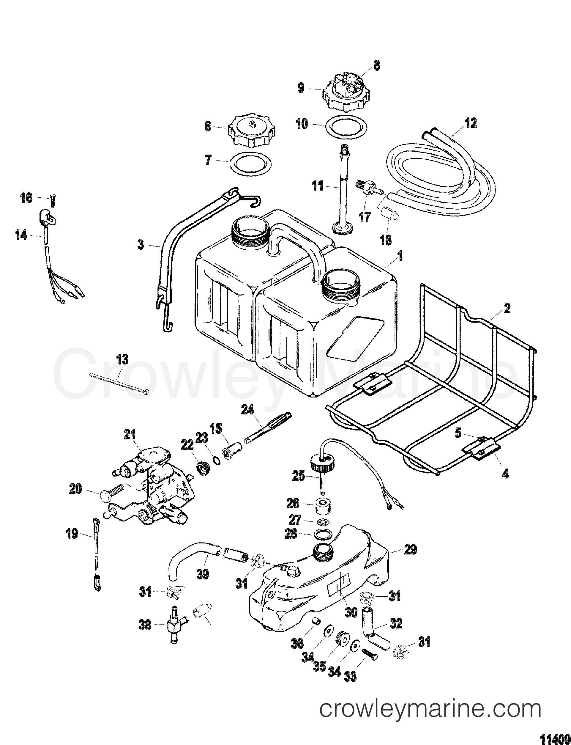 OIL INJECTION COMPONENTS - 1997 SportJet 175 [XR2] 1175J01TD