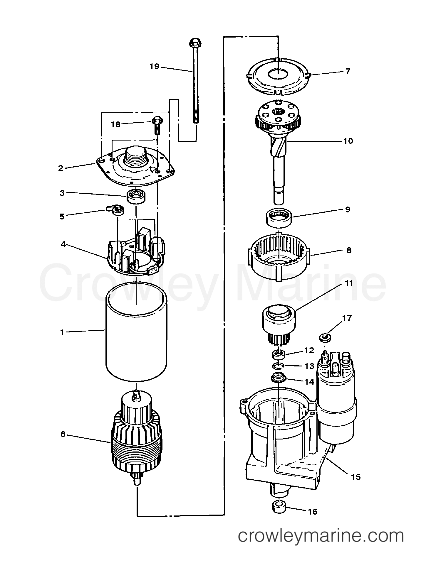 1992 Mercruiser Race Sterndrive 500 [III/IV] - 4500740EH - STARTER ASSEMBLY (BRAVO PLUG IN MODELS) (50-822330A2) section