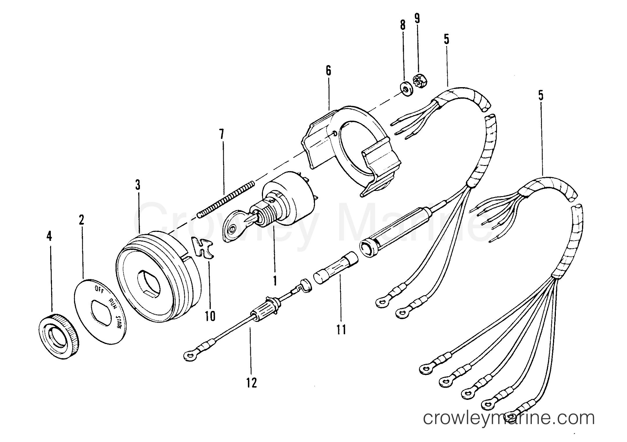 key switch assembly  54211a2  54212a7
