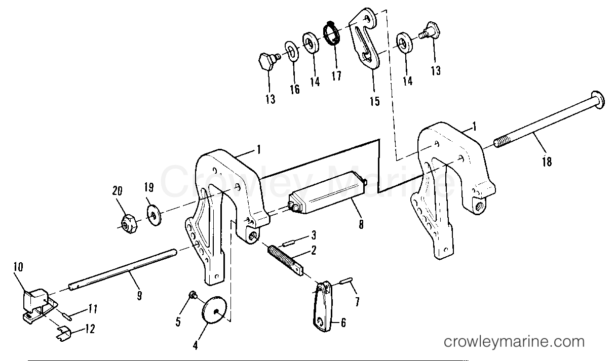 1993.5 Sears Outboard 9.9 - 225.581986 - CLAMP BRACKETS