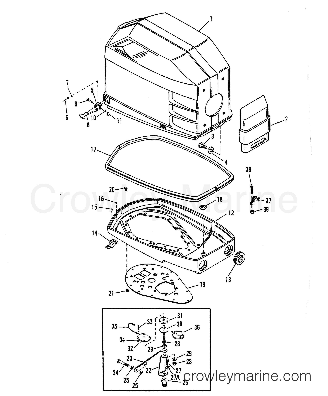 1993 Hors-bord de course Mercury 2.5 [L EFI] - 7925211BH CARÉNAGES section